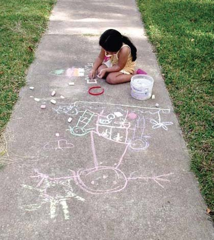 sidewalk chalk activities recipes