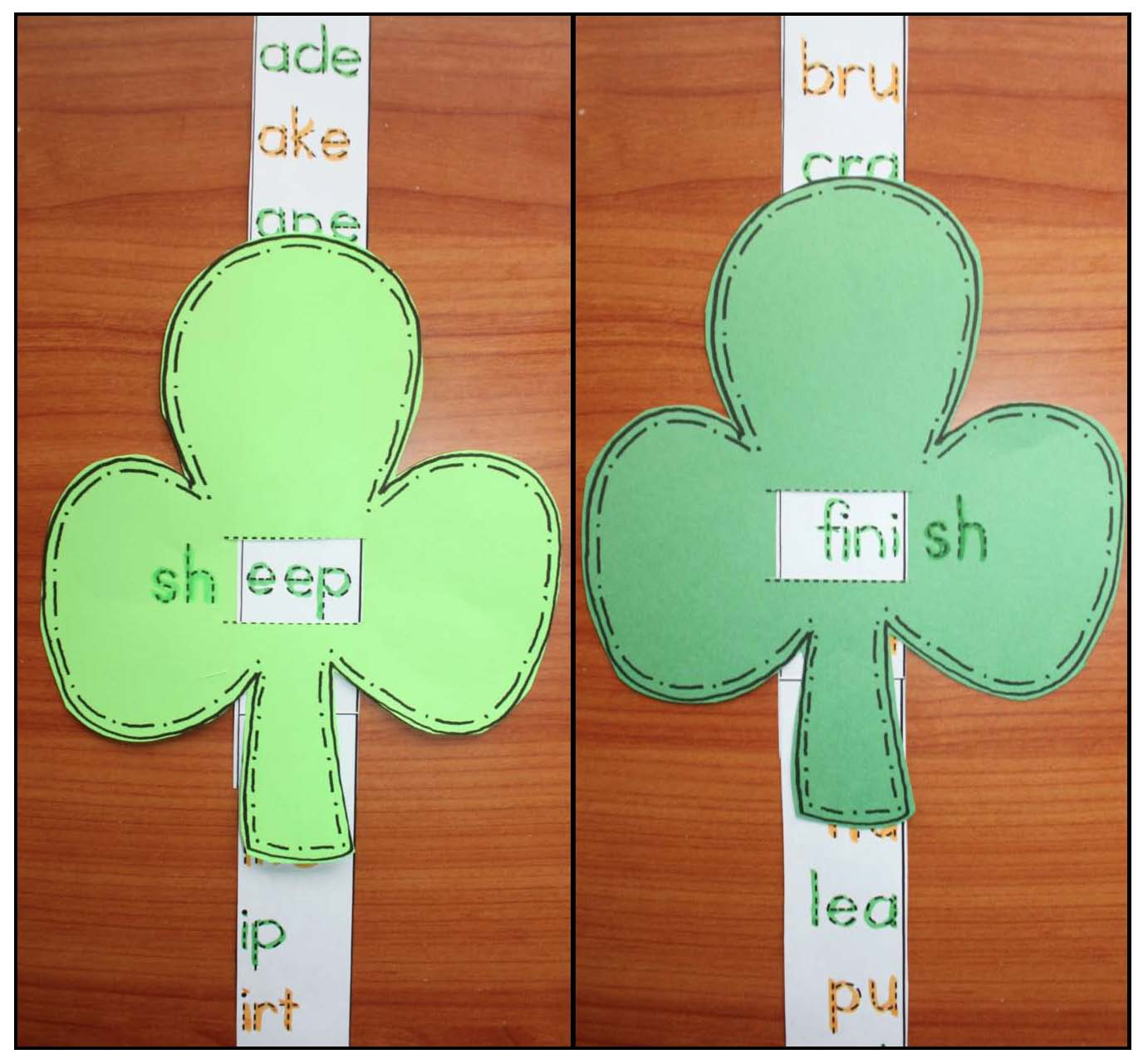 shamrock activities, shamrock crafts, shamrock games, sh word blend activities, sh word blend games, saint patricks day activities, saint patricks day crafts,