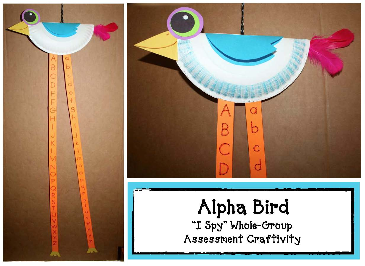 alpha bird, alphabet activities, alphabet assessments, alphabet games, bird crafts, bird activities, common core alphabet, common core state standards kindergarten, common core state standards first grade, bird crafts, alphabet crafts, alphabet assessments