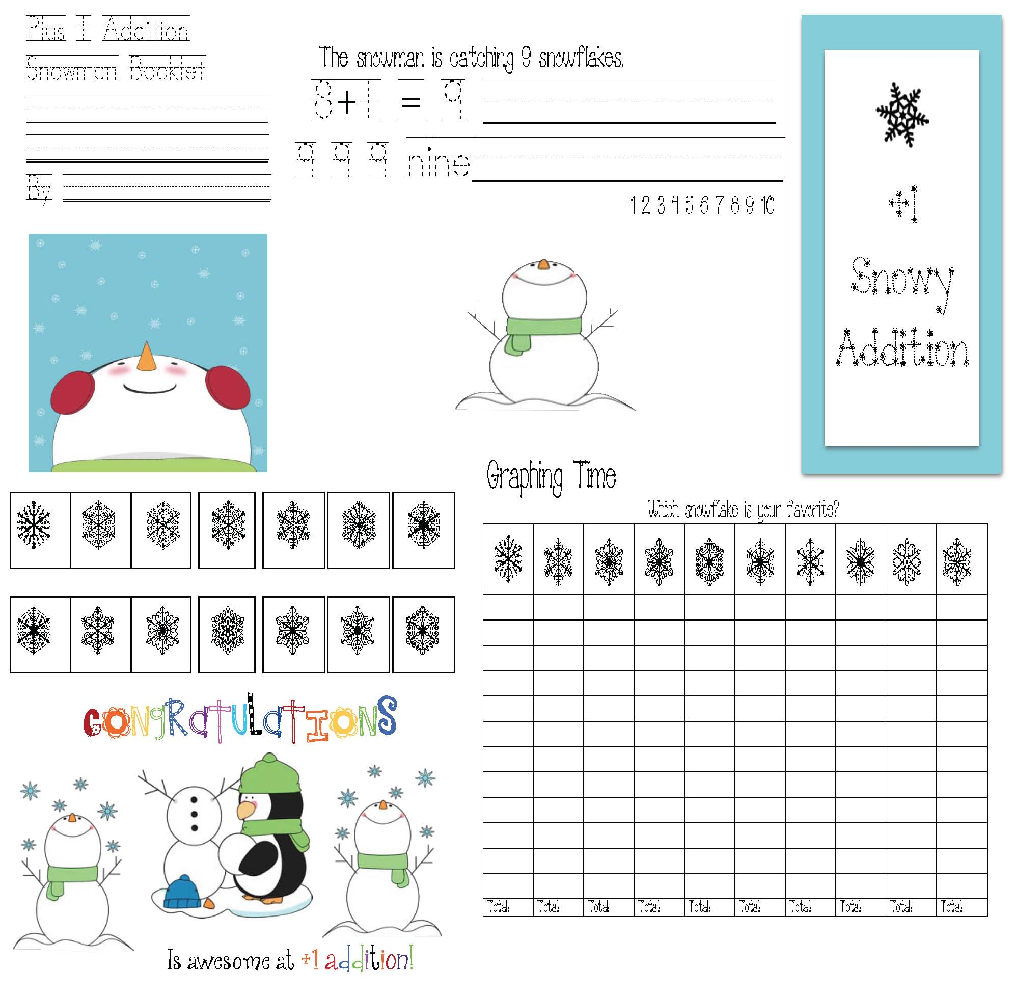 snowman activities, snowmen activities, analog time activities, digital time activities, 1.MD.3 common core state standards for 1st, telling time activities, telling time games, place value activities, tally mark activities, addition and subtraction activities, snoman math, math centers, math games, math games for winter, math centers for winter