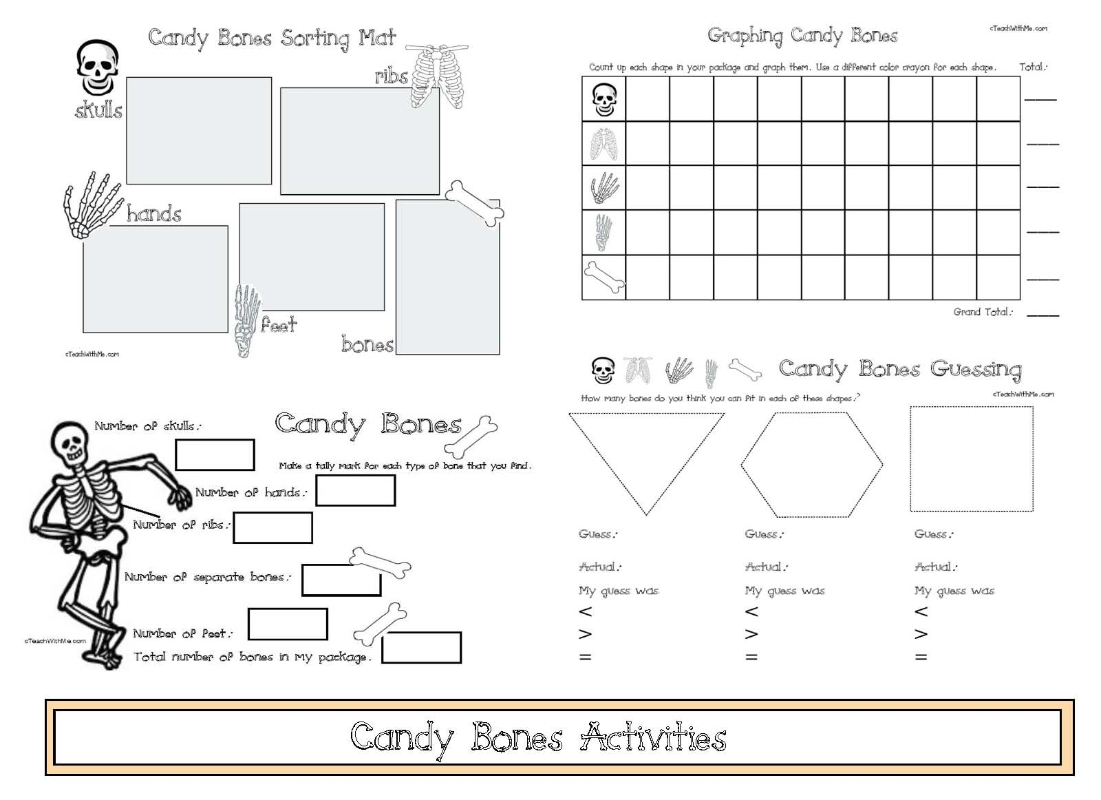 candy bones activities, candy bones graph, candy shapes, shape activities, candy shape posters, free classroom posters, candy bones math centers, candy bones math, skull and bones math, skull and bones graph, skull and bone activities, pirate activities, pirate math centers, pirate games, skeleton activities, skeleton games, graphing activities, halloween games, halloween math, candy math, math activities with candy,