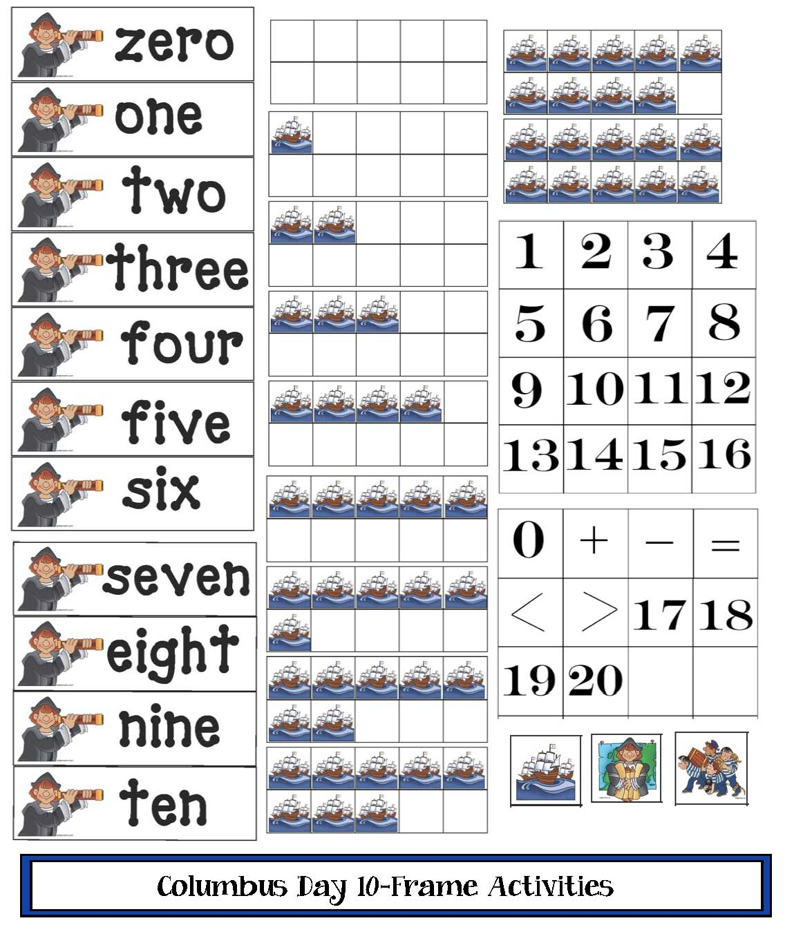 columbus day activities, columbus day centers, columbus day alphabet cards, columbus day games, 50+ columbus day activities, columbus day lessons, 10 frames, 10 frame activities, 10 frame templates, 10 frames for columbus day, 10 frame manipulatives, patterning activities, addition and subtraction for columbus day, patterning for columbus day, common core columbus,