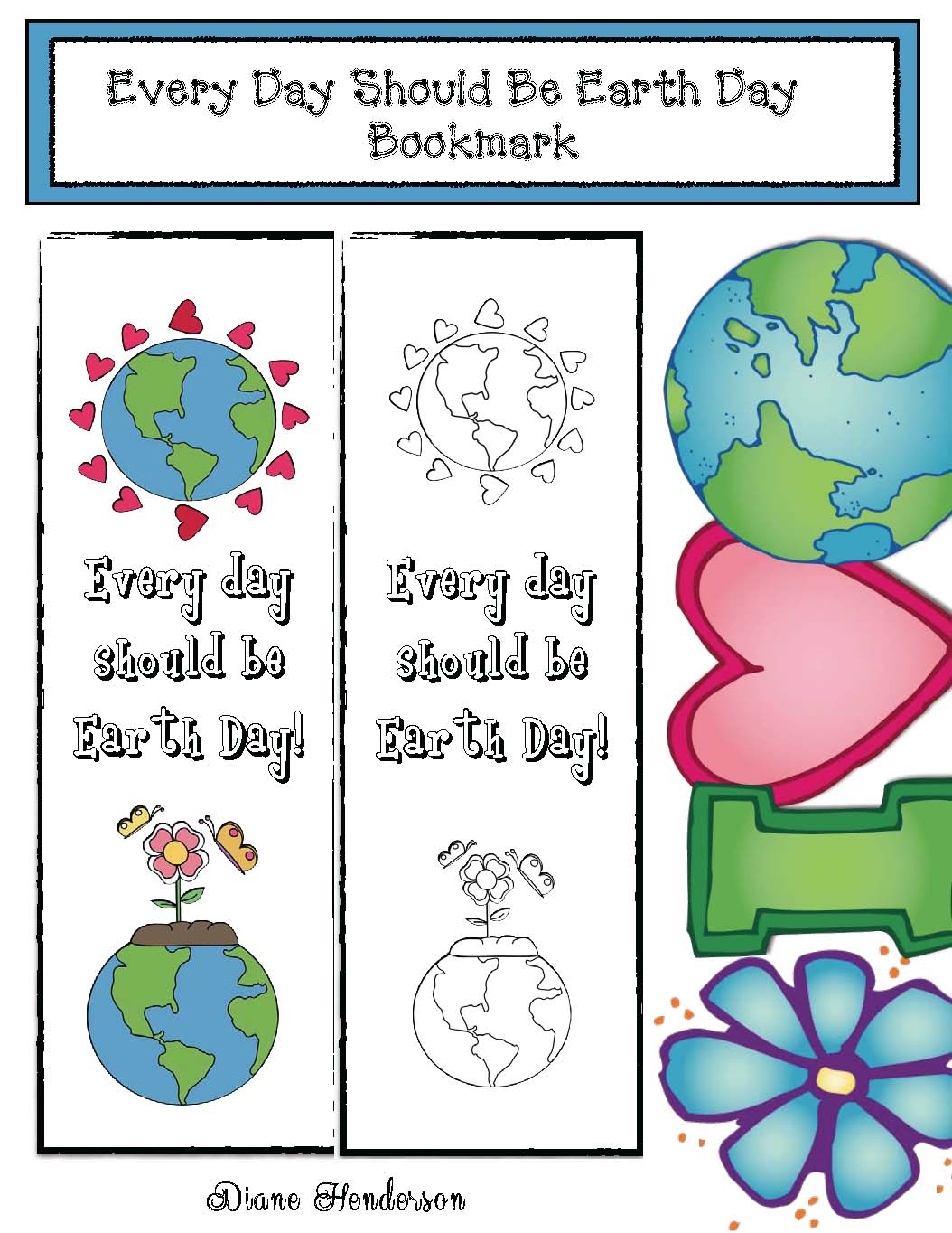 earth day crafts, earth day activities, earth day writing prompts, earth day bulletin board ideas, earth day bookmarks, cylinder shape crafts, cylinder shape activities, free earth day, earth day bookmark, environmental footprint activities