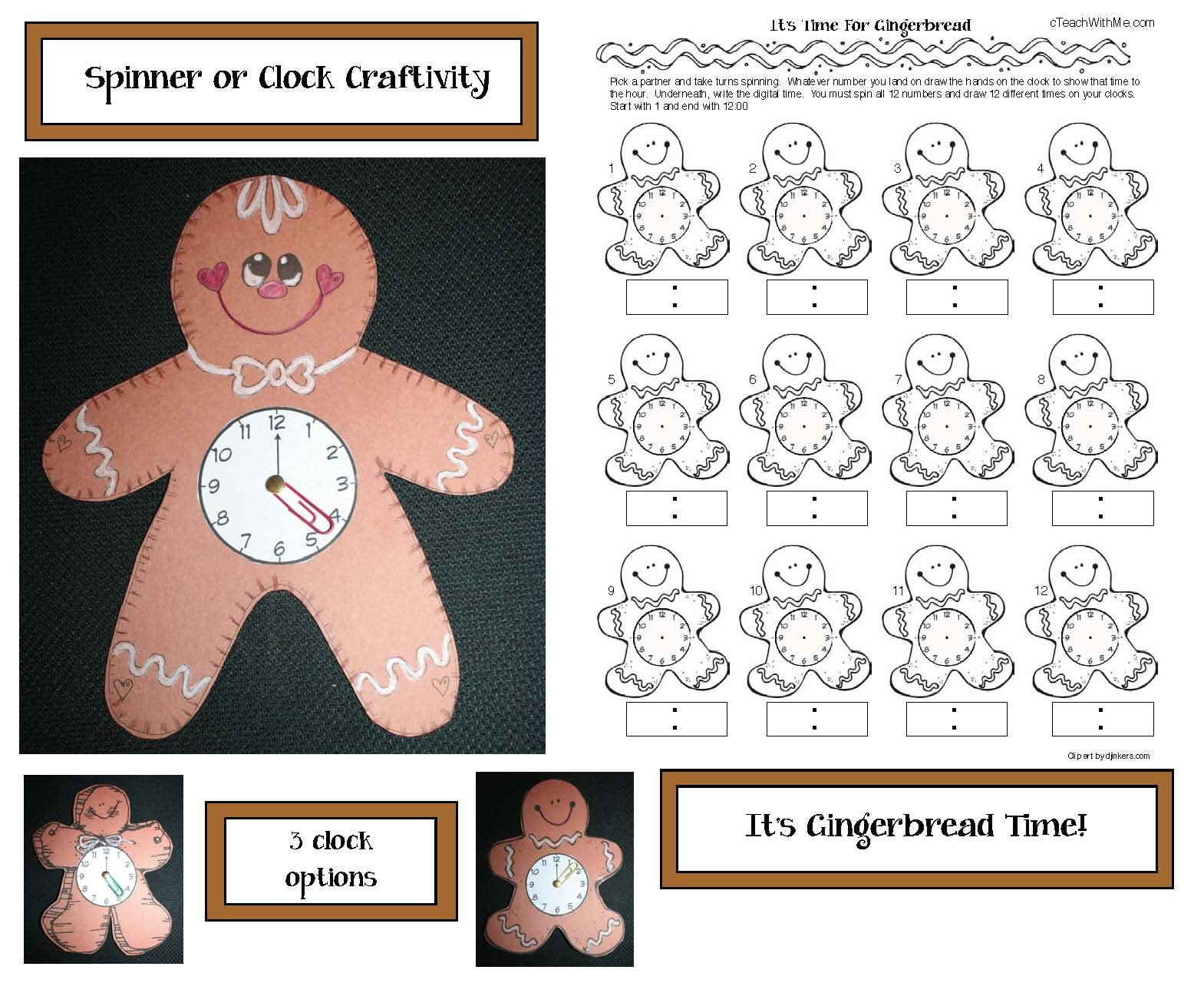 spatial direction activities, gingerbread activities, place value mats, place value activities, gingerbread house activities, shape activities, common core gingerbread, gingerbread games, telling time to the hour activities, digital and analog time activities,