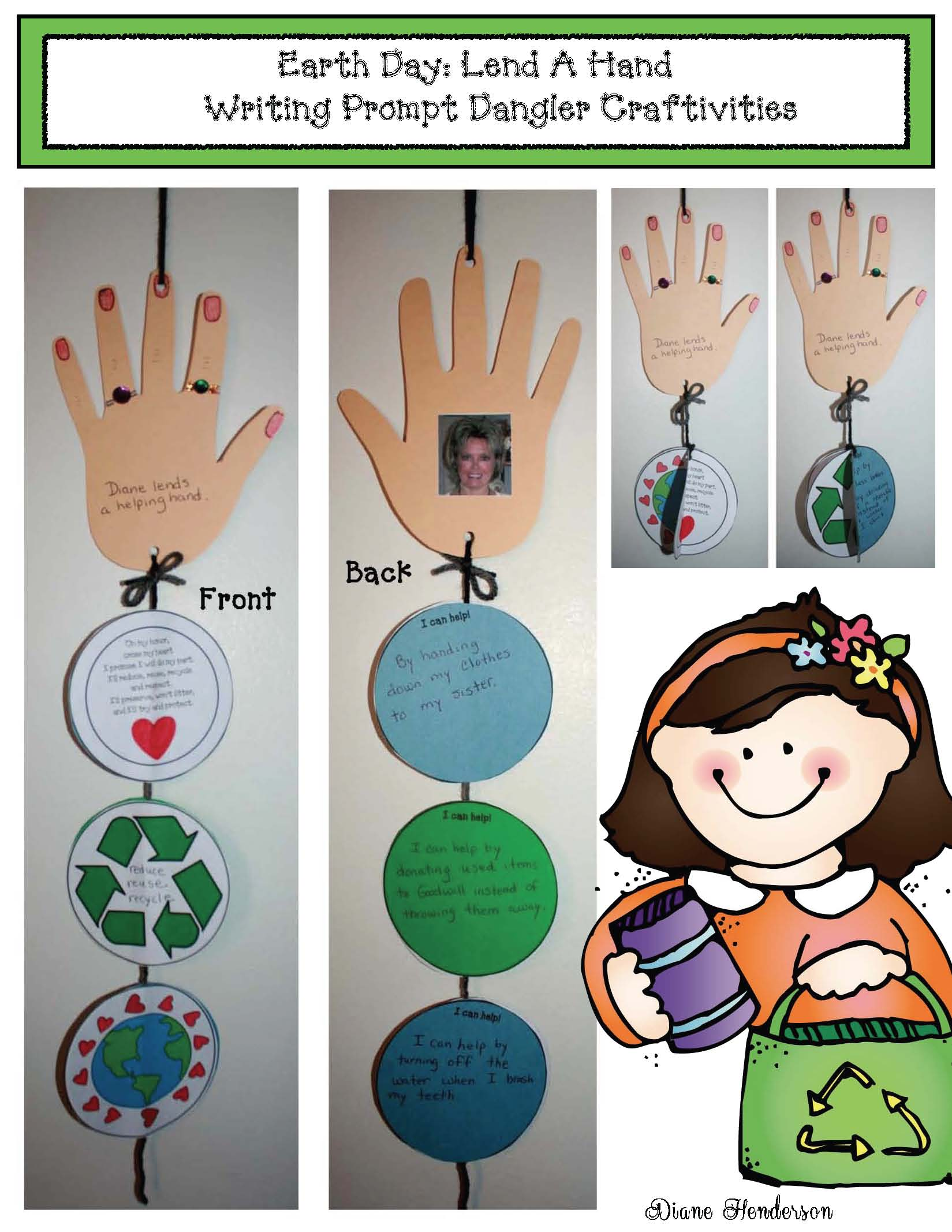 earth day crafts, earth day activities, earth day writing prompts, earth day bulletin board ideas, earth day bookmarks, free earth day, environmental footprint activities
