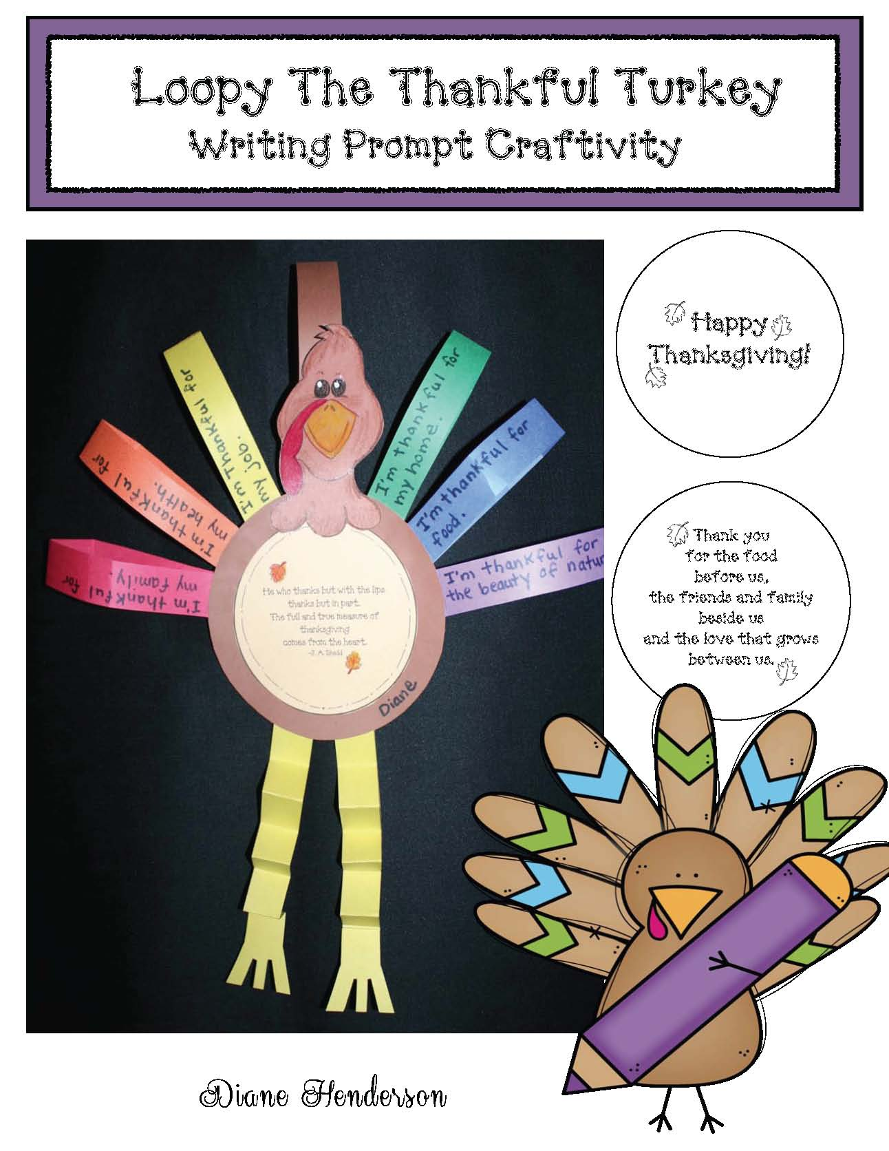 thanksgiving crafts, thanksgiving activities, turkey crafts, turkey activities, writing prompts for november, november bulletin boards, i'm thankful writing prompt ideas