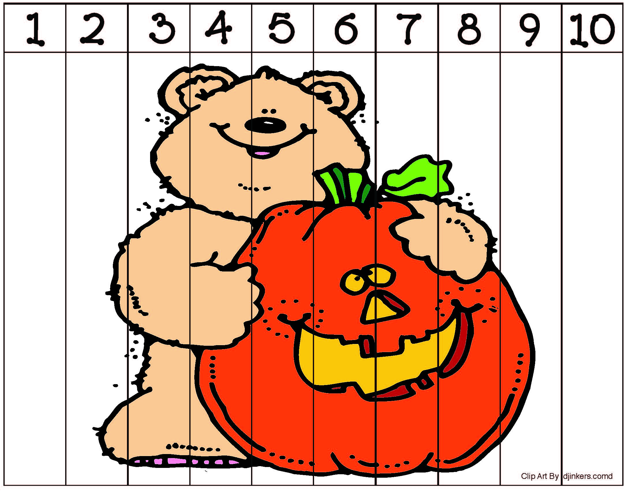number puzzles, math centers, sequencing numbers, counting activities, skip counting by 10's, activities for skip counting by 10's, pumpkin activities, bat activities, Halloween activities, scarecrow activities, fall puzzles, Halloween games, Halloween puzzles, puzzle pictures, number strip puzzles, leaf puzzles, pumpkin puzzles, leaf activities