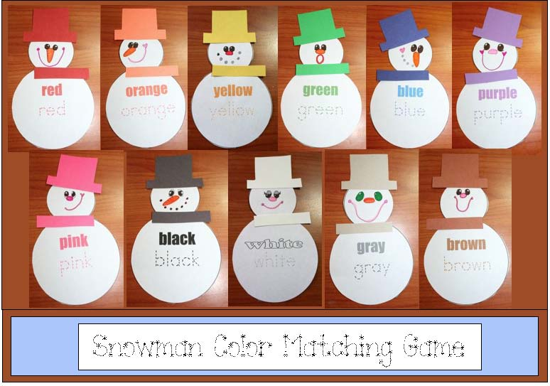 snowman matching game, 77 favorite January children's books, snowman activities, snowmen, snowman games, happy new year bookmarks, free 2014 bookmarks, free happy new year posters, free happy new year cards, happy new year 2014 activities, happy new year activities, new year activities, new year crafts, new year writing prompts,color word activities, color words, snowman activities