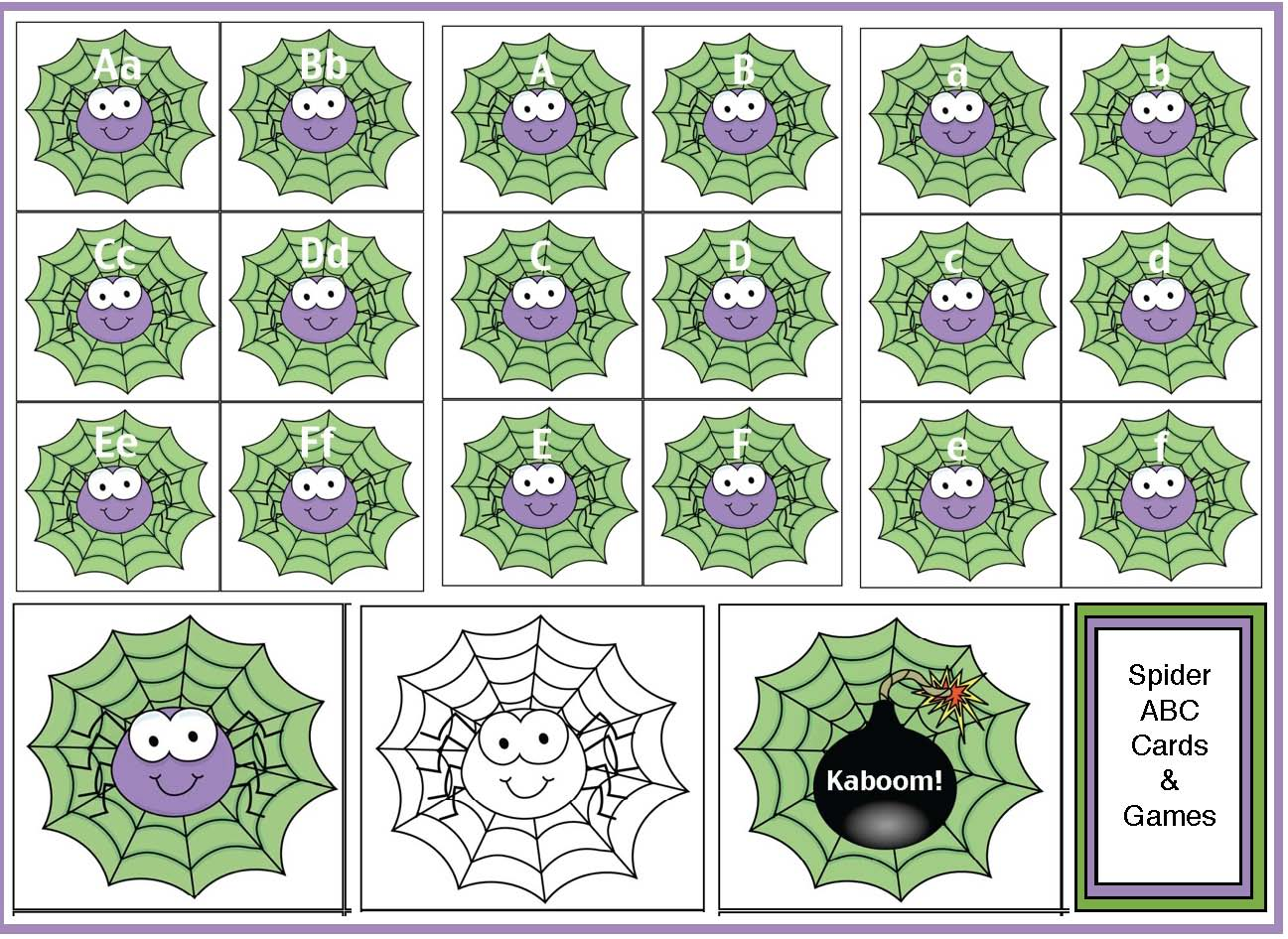 spider activities, common core spiders, spider crafts, spider arts and crafts, spider cards, alphabet lessons, alphabet games, spider games, spider centers, alphabet centers, alphabet assessments, common core assessments, alphabet worksheets, free alphabet worksheets, spider alphabet cards,