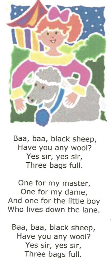 nursery rhyme activities, nursery rhyme crafts, nursery rhyme centers, sheep nursery rhymes, 3 little kittens nursery rhymes