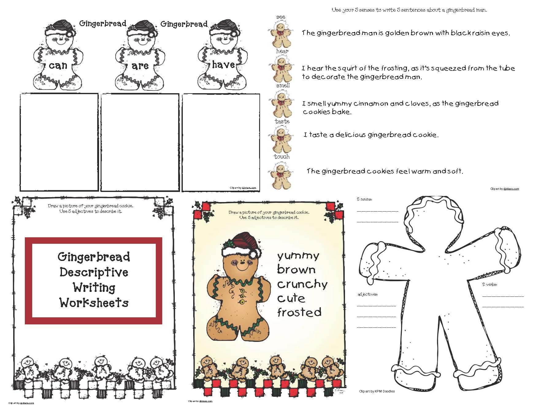 gingerbread descriptive writing cov