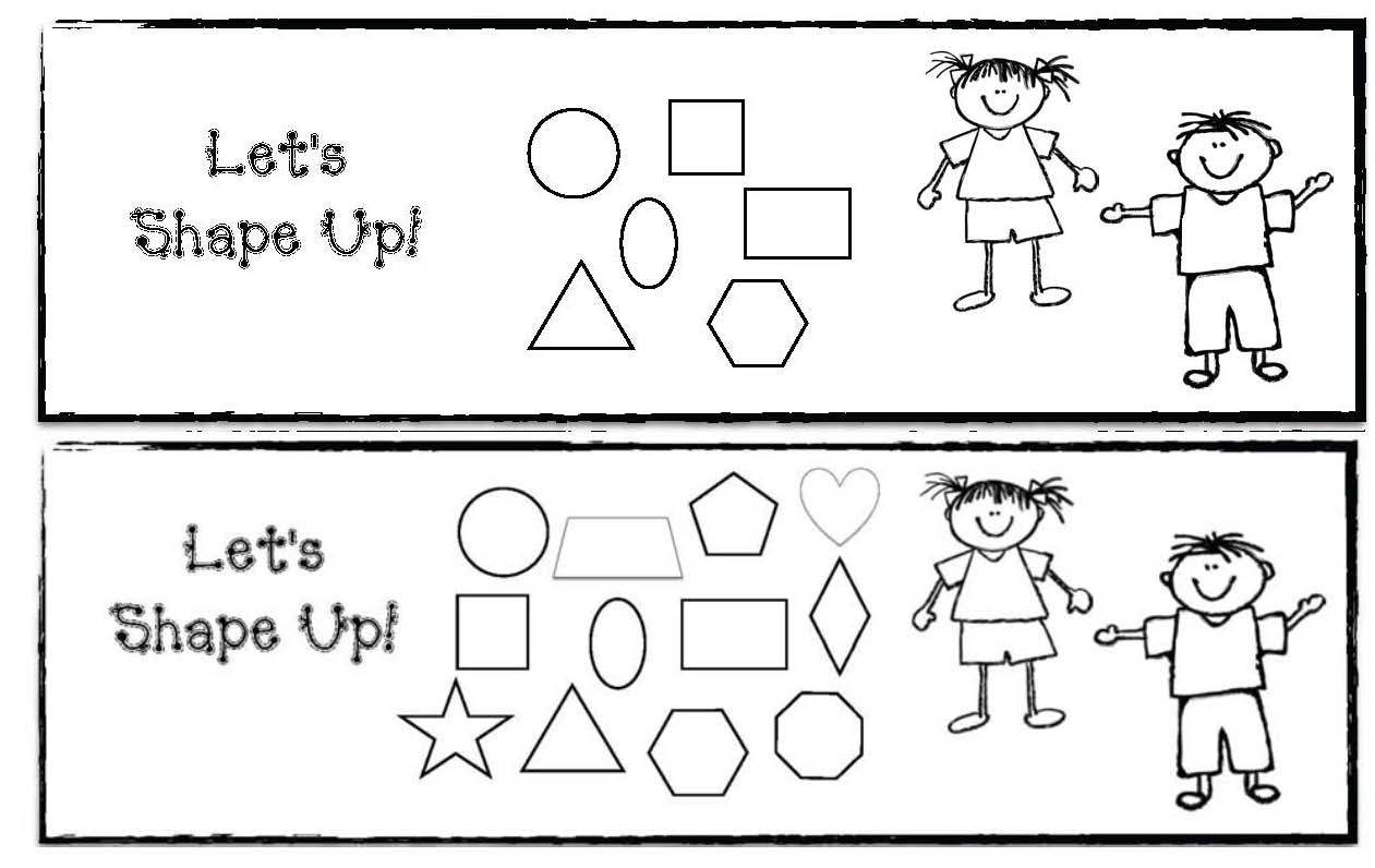 shape activities, shape assessments, shape games, 2D shapes