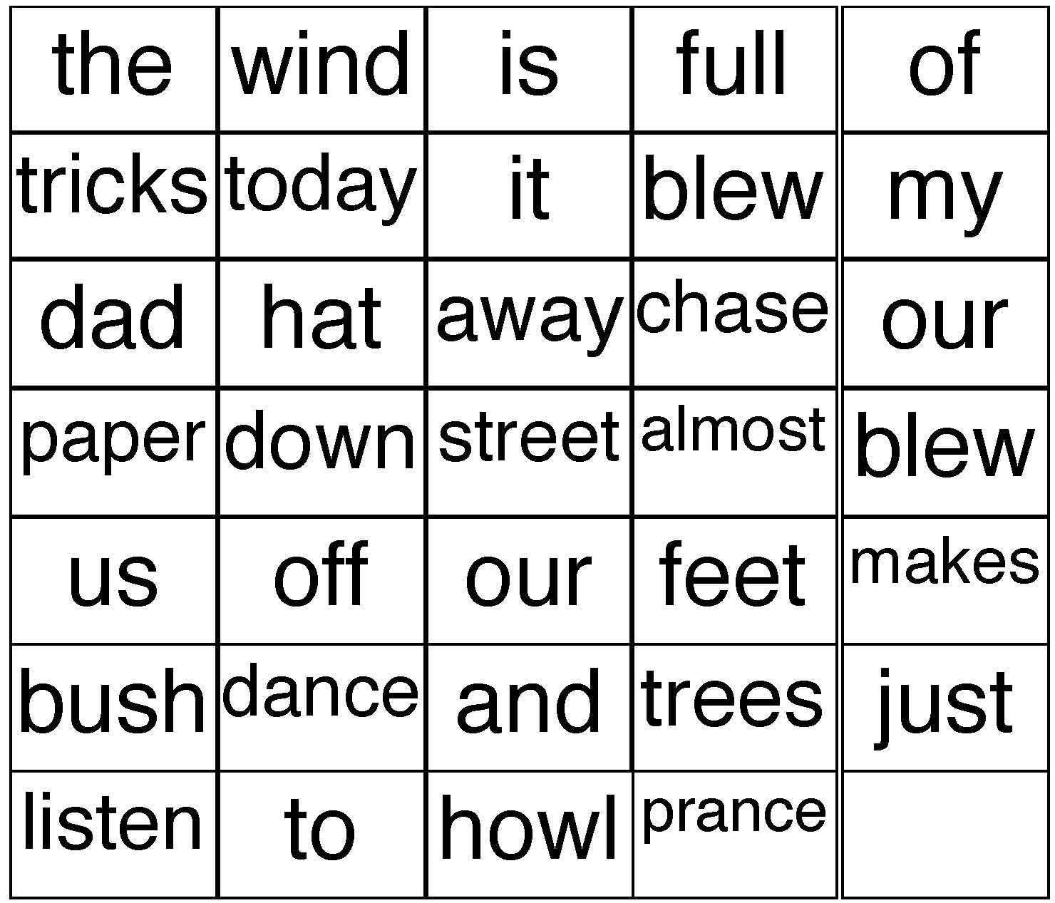 wind activities, wind poem, words that rhyme with play, words that rhyme with dance, words that rhyme with feet, word games, tally mark activities, wind tricks poem, emergent wind reader, poetry genre, poems for young kids, end punctuation activities, beginning capitalization activities