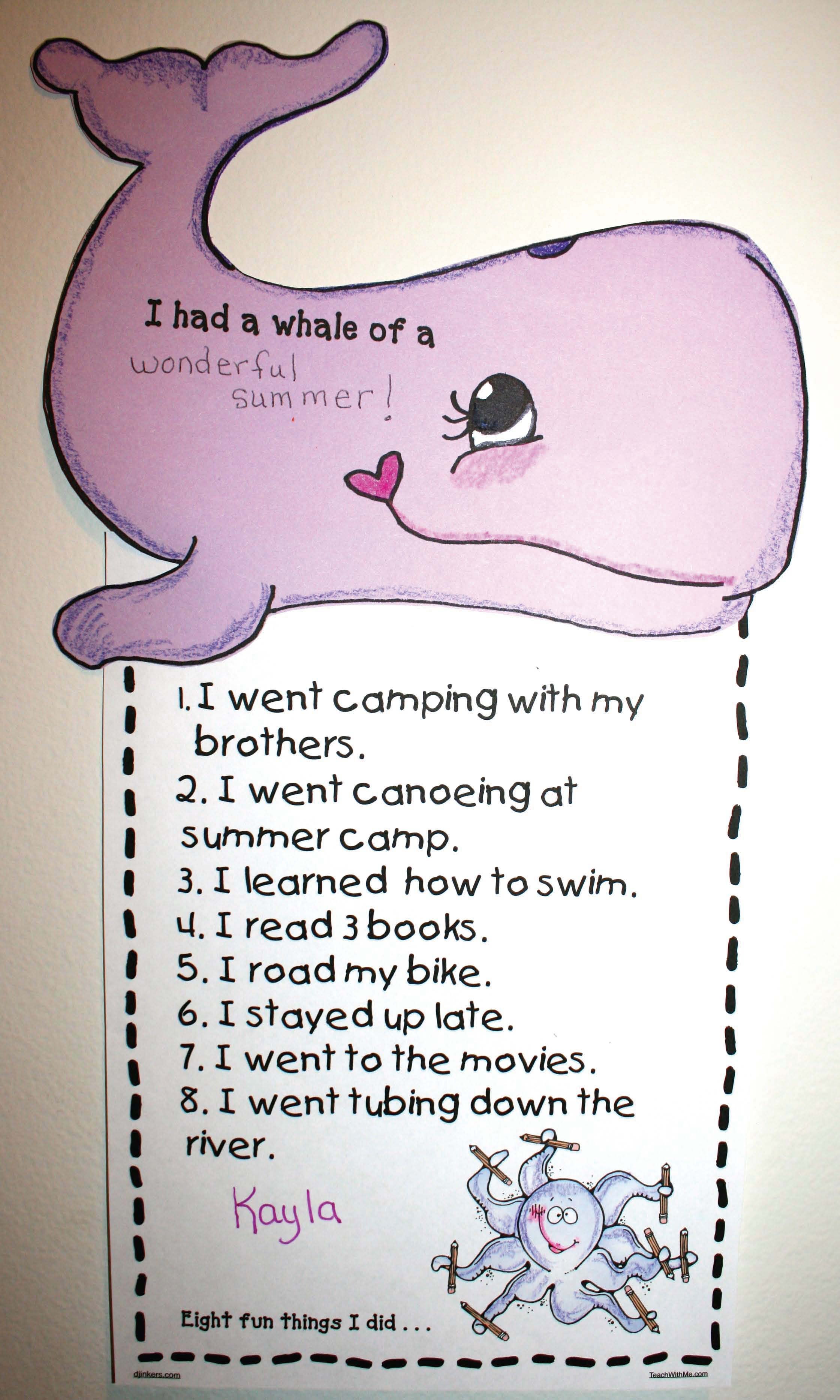 whale activities, ocean activities, whale crafts, summer activities, back to school writing prompts, end of the year writing prompts, whale crafts, writing prompts, bookmarks,