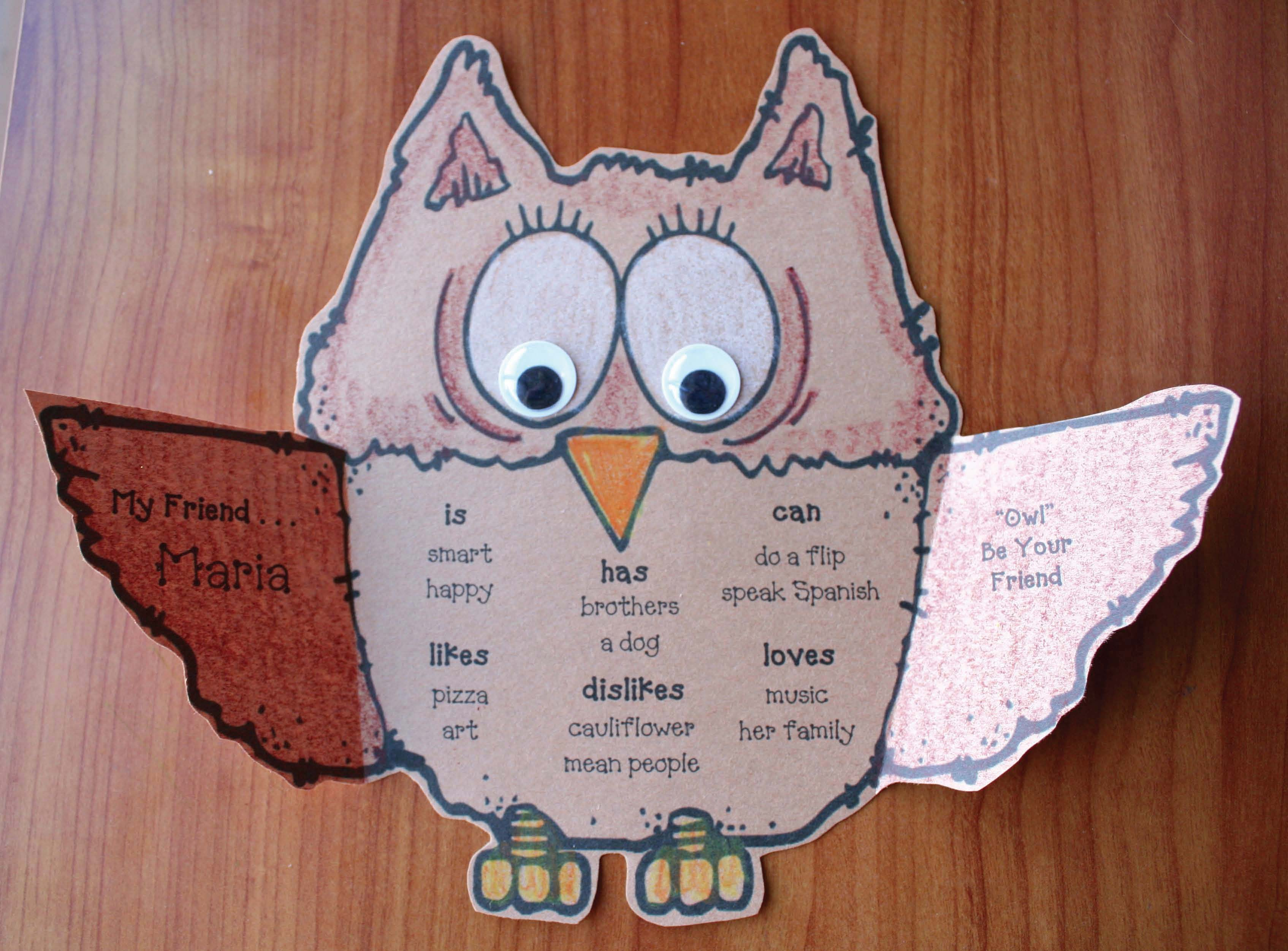 owl crafts, owl writing prompts, writing prompts for fall, fall bulletin boards, owl bulletin boards, back to school ideas, back to school writing prompts, back to school crafts, owl activities, owl crafts, owl writing prompts, icebreakers, icebreakers for the first day of school, icebreakers for the 1st wekk of school
