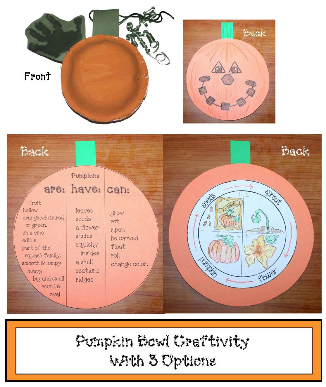 pumpkin crafts, pumpkin activities, pumpkin writing prompts, common core pumpkins, life cycle of a pumpkin, pumpkin facts, pumpkin masks, pumpkin puppets, peekin in a pumpkin, kool aid pumpkins