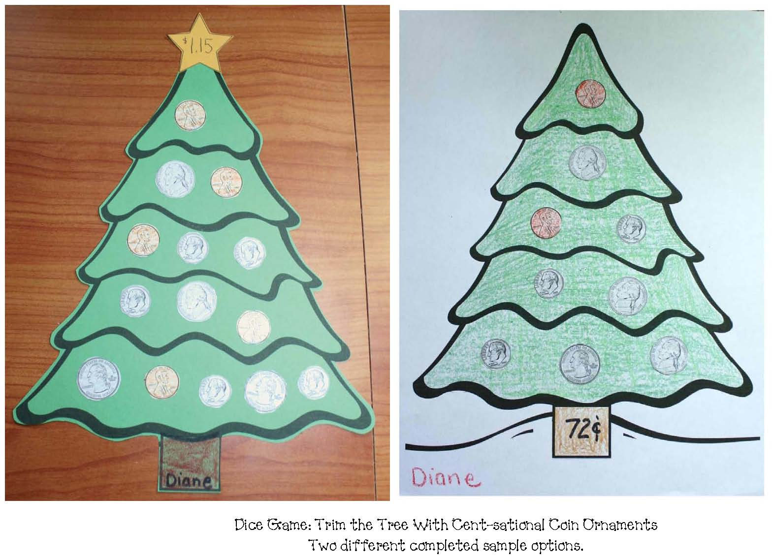coin activities, coin crafts, christmas crafts, common core christmas,