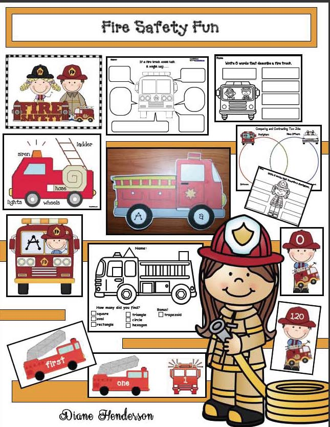 fire safety activities, common core fire safety, fire safety worksheets, fire safety fun,