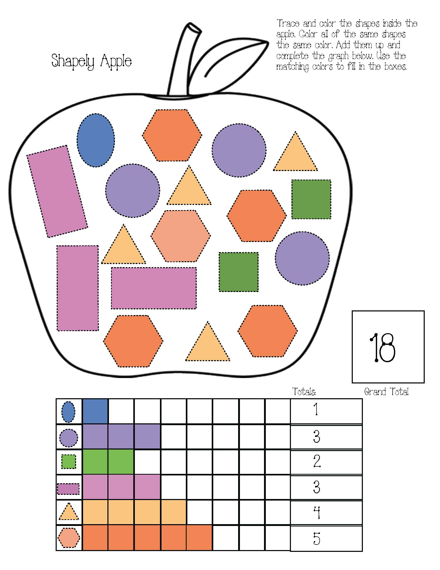 apple activities, spider activities, leaf activities, pumpkin activities, graphing activities, pumpkin graph, apple graph, spider graph, shape graph, shape activities, hexagon activities, shape lessons, table top lessons for fall, free common core for kindergarten, free common core for 1st grade, 1.MD.4