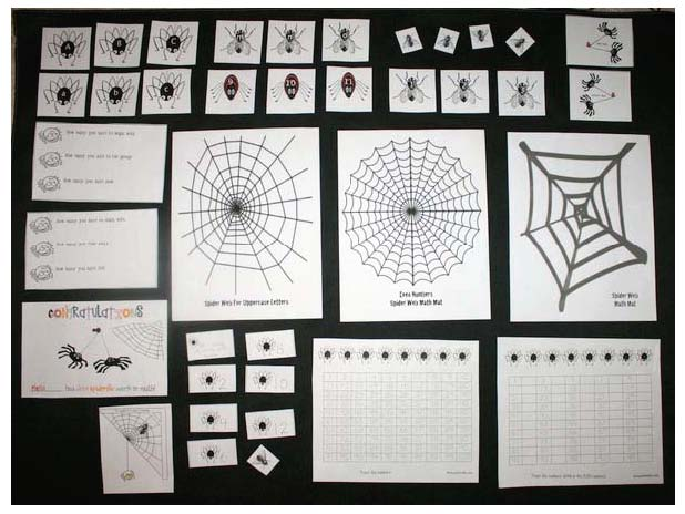 spider activities, spider math activities, common core spiders, spider crafts, spider arts and crafts, spider cards, alphabet lessons, alphabet games, spider games, spider centers, alphabet centers, alphabet assessments, common core assessments, alphabet worksheets, free alphabet worksheets, spider alphabet cards,