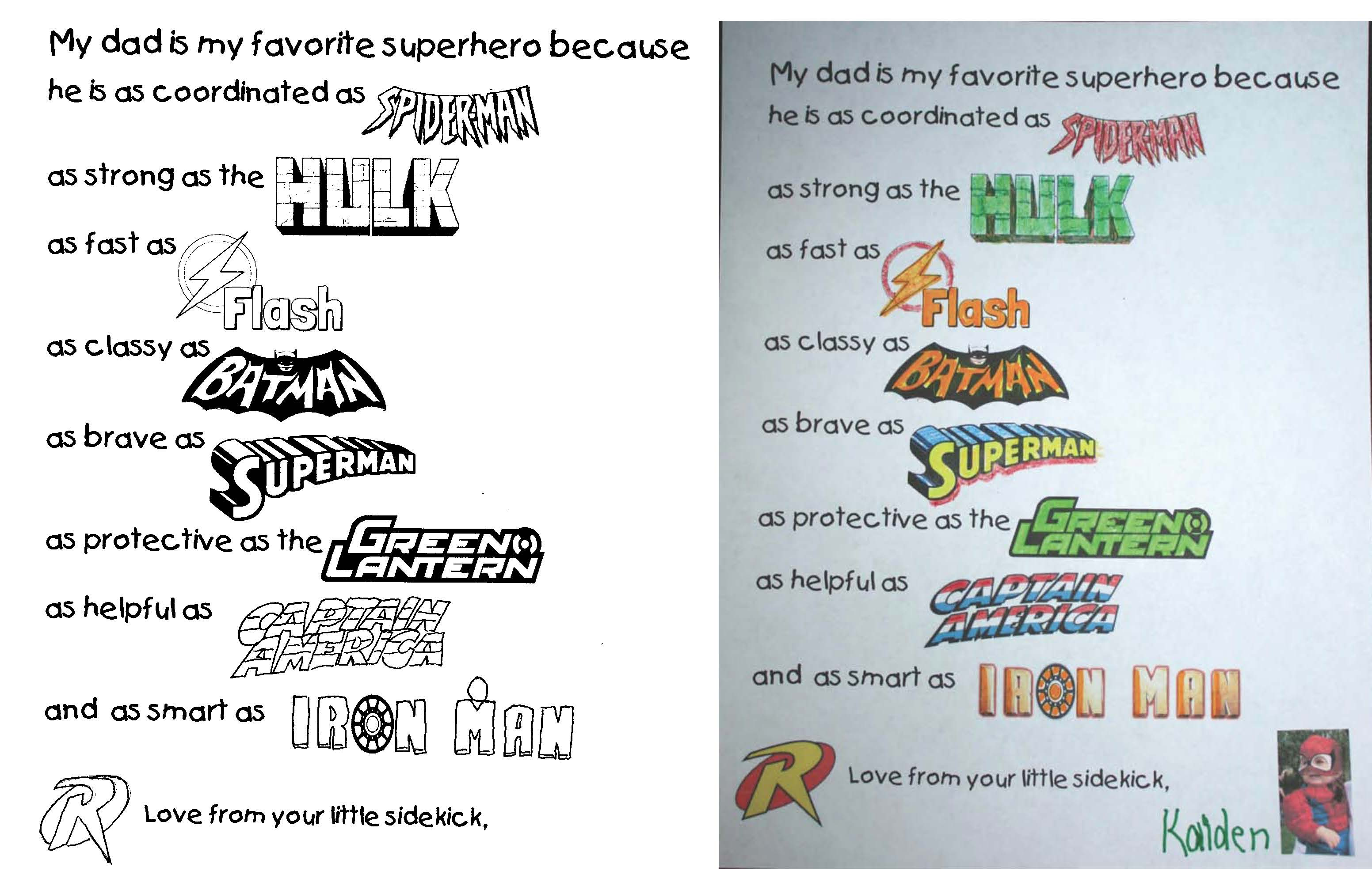 fathers day cards, fathers day ideas, fathers day crafts, fathers day gifts kids can make, fathers day writing prompts, end of the year activities, superhero activities, superhero cards, superhero crafts, superhero writing prompts, superhero dads, superhero fathers day activities, writing prompts for june