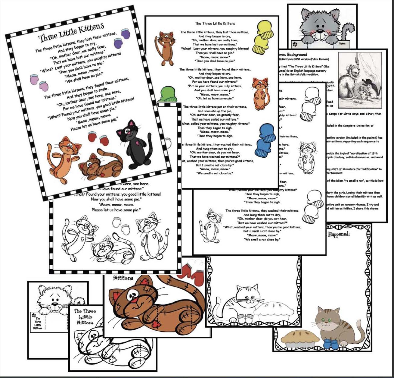 story telling wheels, nursery rhyme activities, storytelling slider crafts, nursery rhyme crafts, 3 little kittens, nursery rhyme centers, activities for the 3 little kittens nursery rhyme