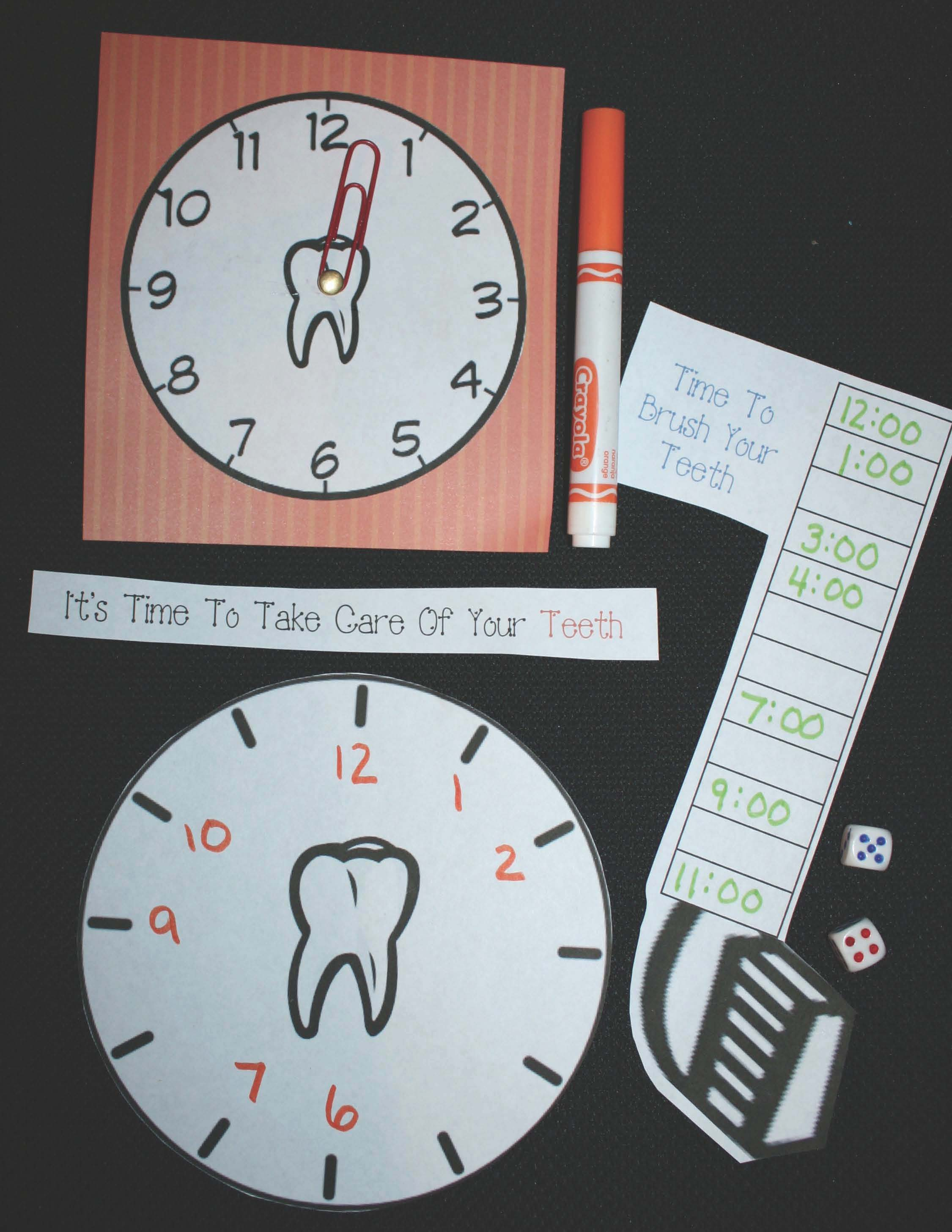 dental hygiene activities, dental hygiene lessons, dental hygiene crafts, dental hygiene writing prompts, dental hygiene alphabet cards, telling time activities, telling time games, analog and digital time activities, 1.MD.3 alphabet activities, alphabet games,