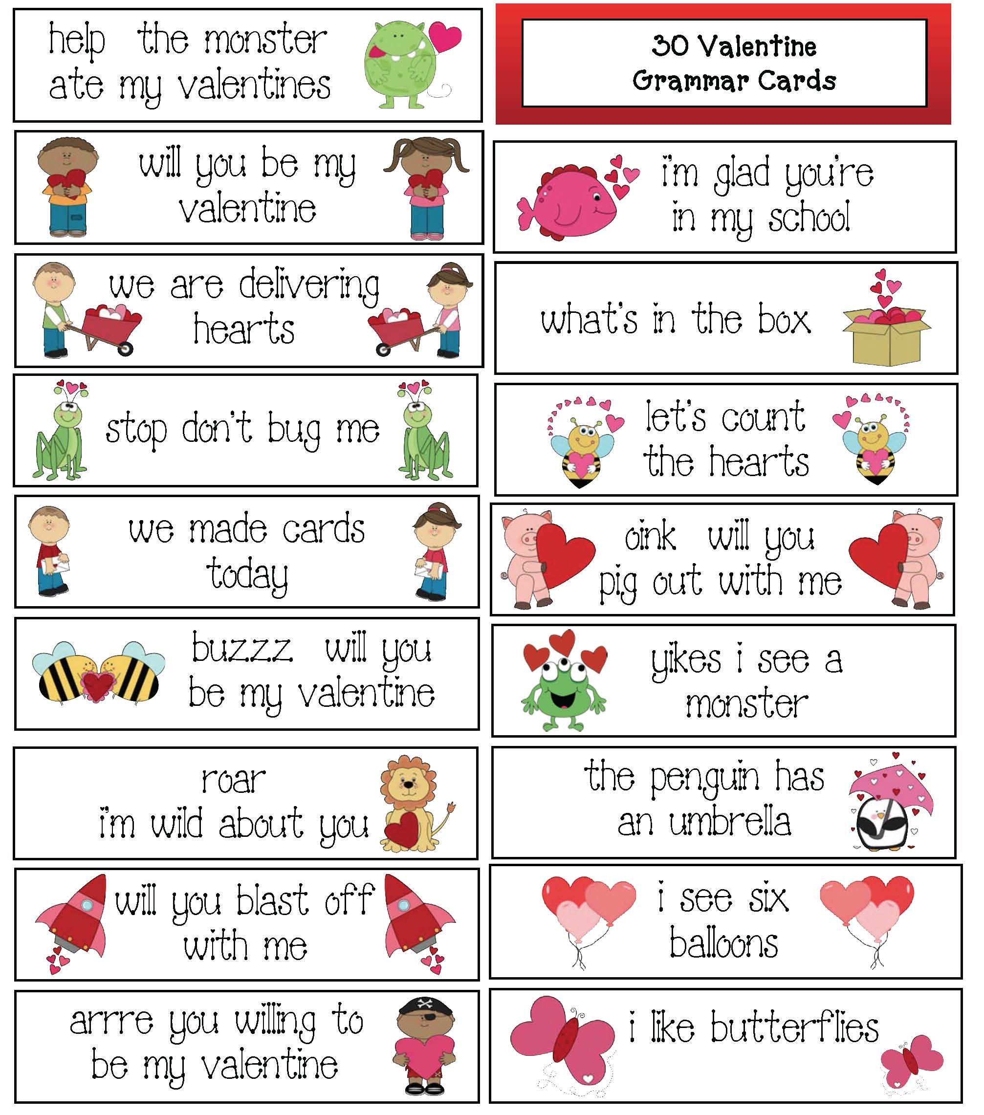 vlist of 100 favorite valentine books, valentine activities, valentine 10 frames, 10 frames templates, 10 frames with hearts, telling time for valentines day, telling time games, telling time assessments, candy heart activities, valentine punctuation, punctuation pocket cards, punctuation activities, capitalization activities, capital letters, telling time assessments, telliing time games, telling time centers, valentine centers, valentine bookmarks, valentine bibliography