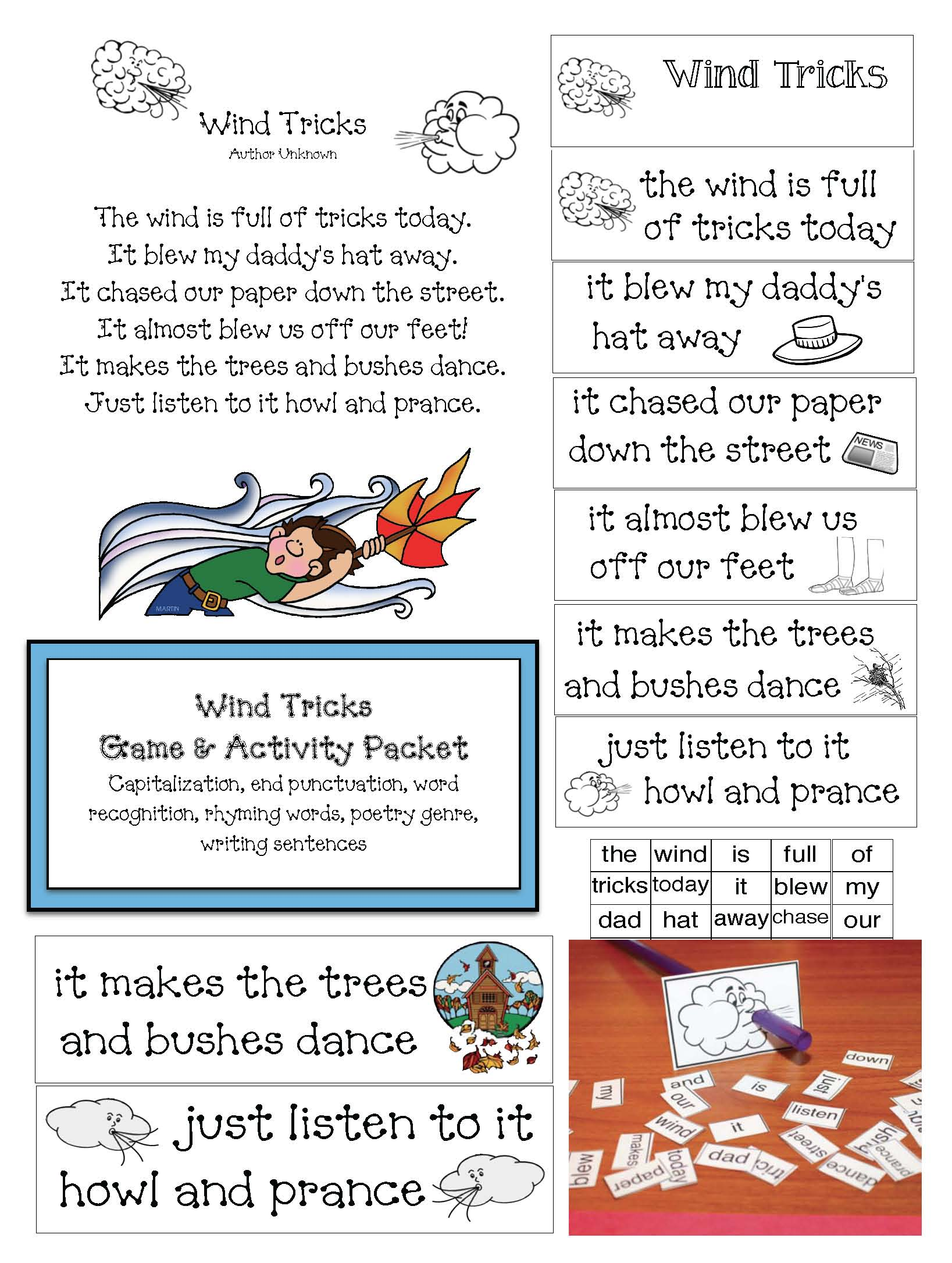 lion and lamb activities, weather activities, weather games, weather centers, march bulletin boards, march writing prompts, lion crafts, lamb crafts, wind tricks poem, spring poetry, wind poems, sheep activities