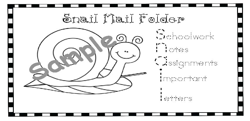 snail mail sample copy
