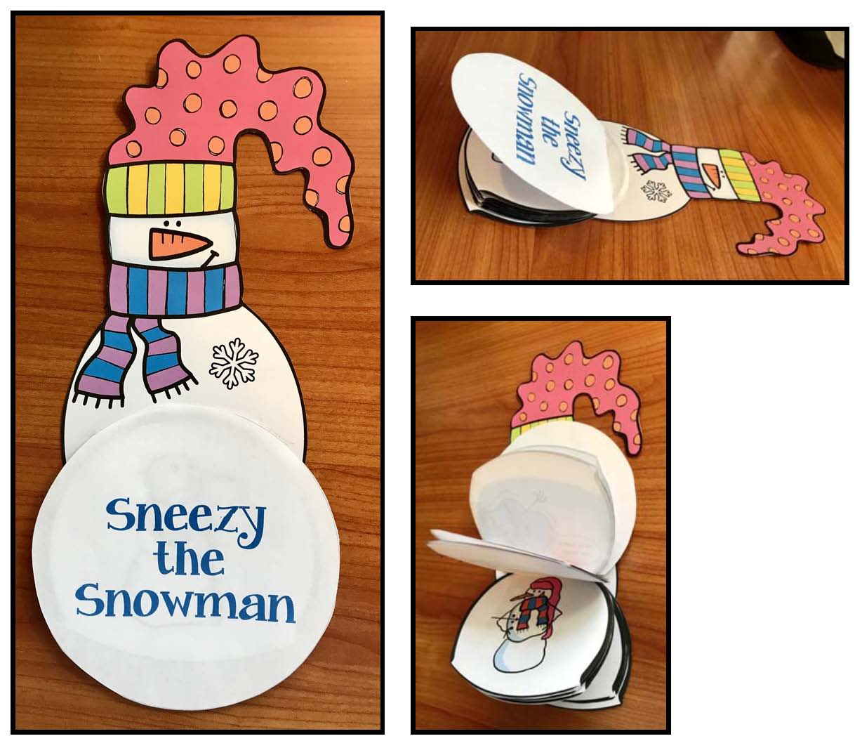 sneezy the snowman activities, sequencing & retelling a story activities, snowman activities, snowman crafts, winter stories for children, Sneezy the Snowman
