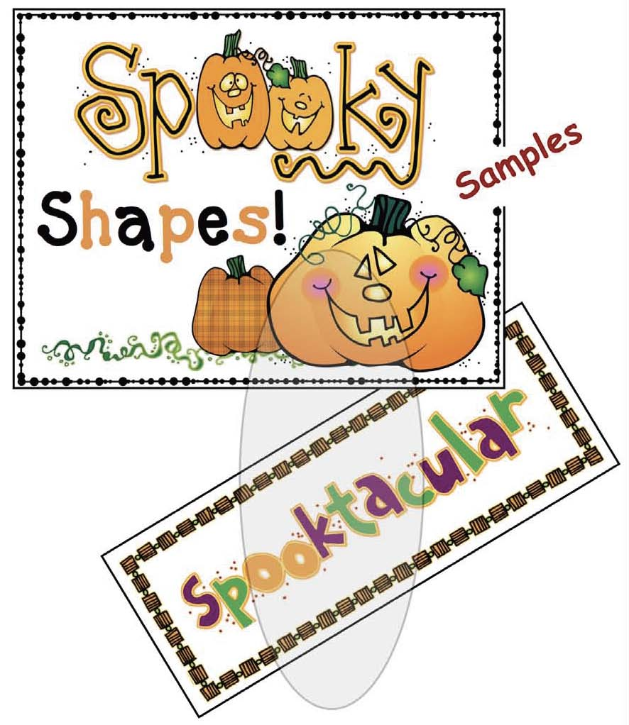 spooky shapes bulletin board posters, haunted house craft, halloween activities, 2D shape activities, 2D shape crafts, 2D shape centers,