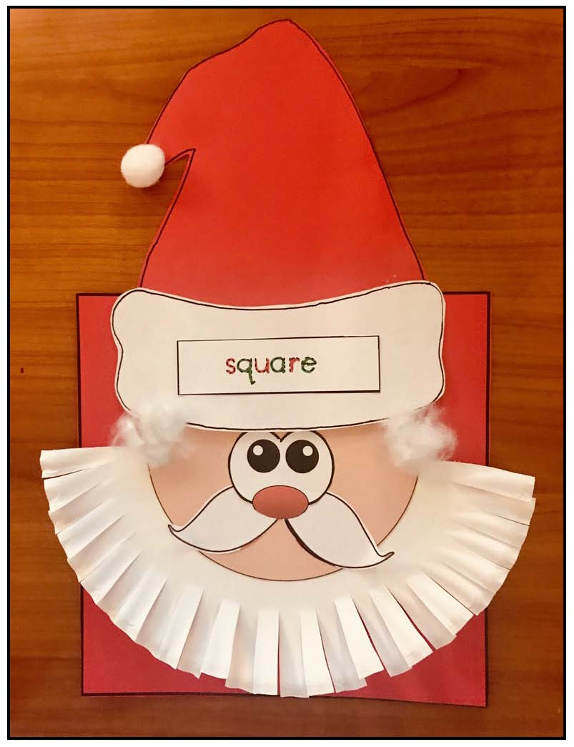 square shapely Santa craft