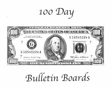 100 day ideas, 100 day activities, 100 day bulletin board ideas, 100 day booklet, 100 words for 100 day,