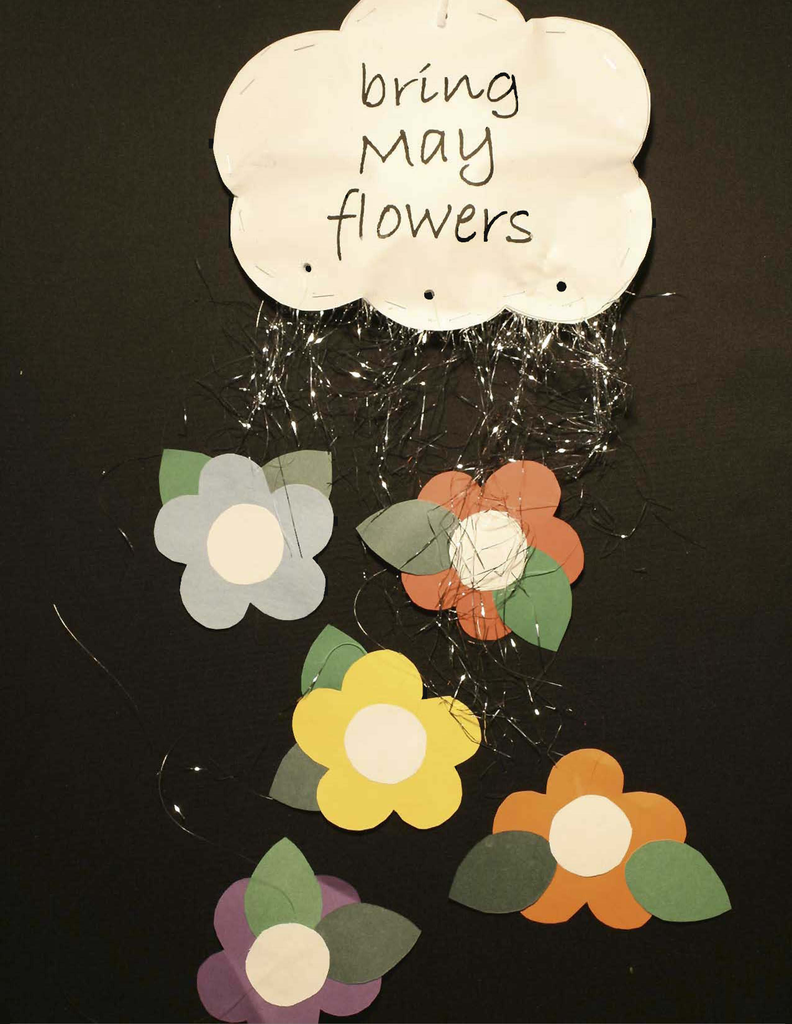 April showers bring May flowers art project