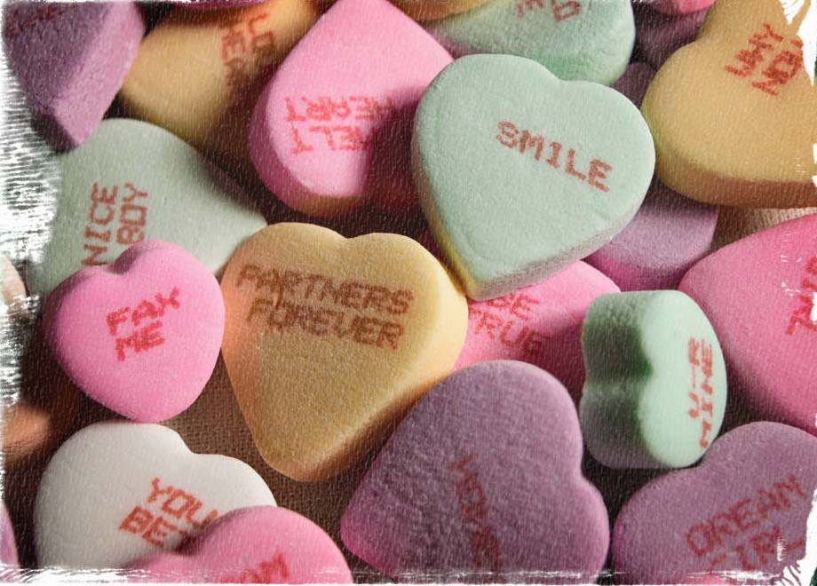 Valentine's Day Party ideas, conversational candy heart ideas