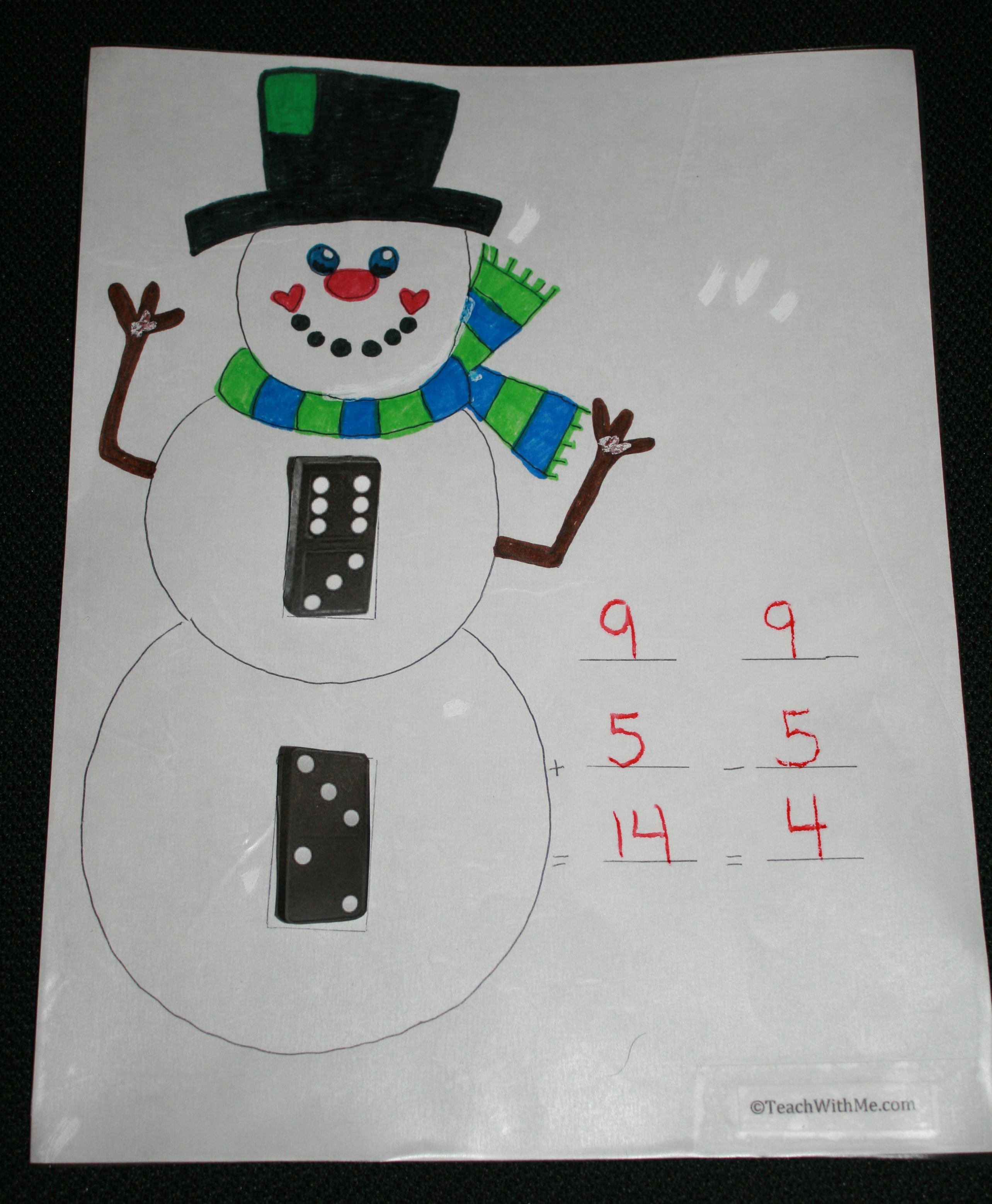 dominoes, math game, snowman activities, math centers, centers, games with dominoes, math games with dominoes,snowman ideas, math facts, addition and subtraction activities, addition and subtraction games,