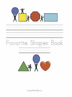 Our class book of shapes, Making class books with preschool, kindergarten and first grade,