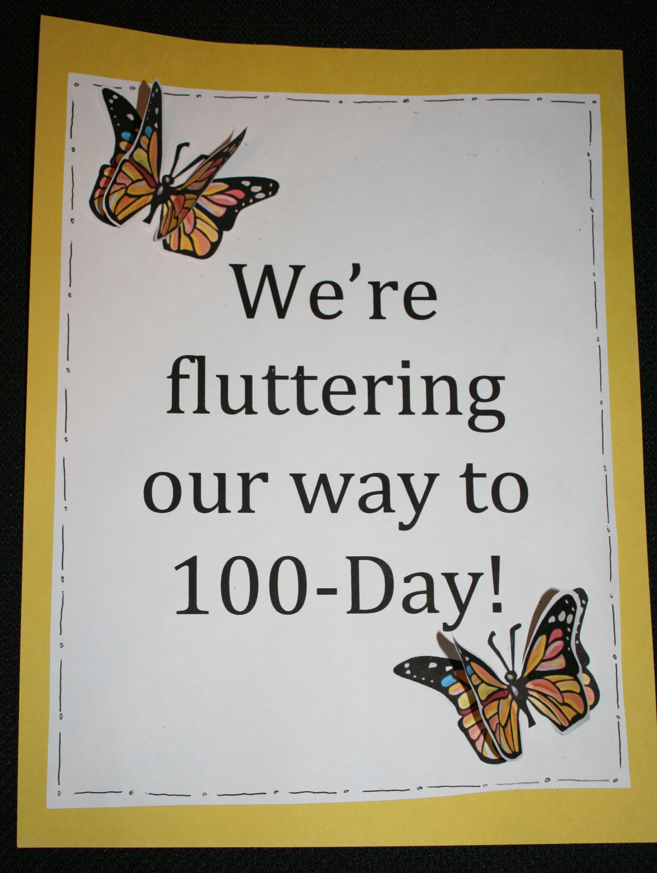 back to school ideas, ideas for the first day of school, butterfly bulletin board, ideas for counting to 100 day