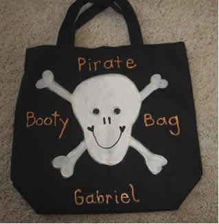 Pirate_Booty_Bag, Halloween trick or treat bag, Halloween arts and crafts