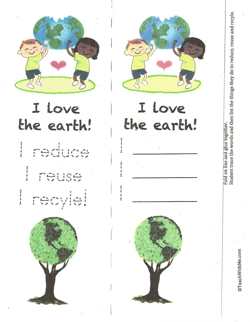 recycle bookmark, earth day bookmark, love the earth bookmark, earth day activities, activities for earth day, reduce reuse, recycle activities, teaching the 3 R's, 3 R activities, Writing prompts for April, Writing prompts for earth day,