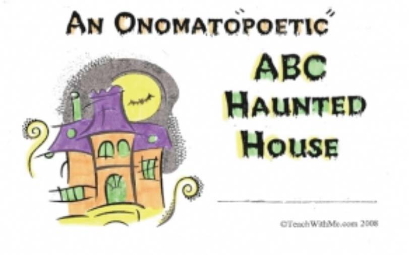 ABC Haunted House, october reading, october booklets, october reading tips, reading tips,