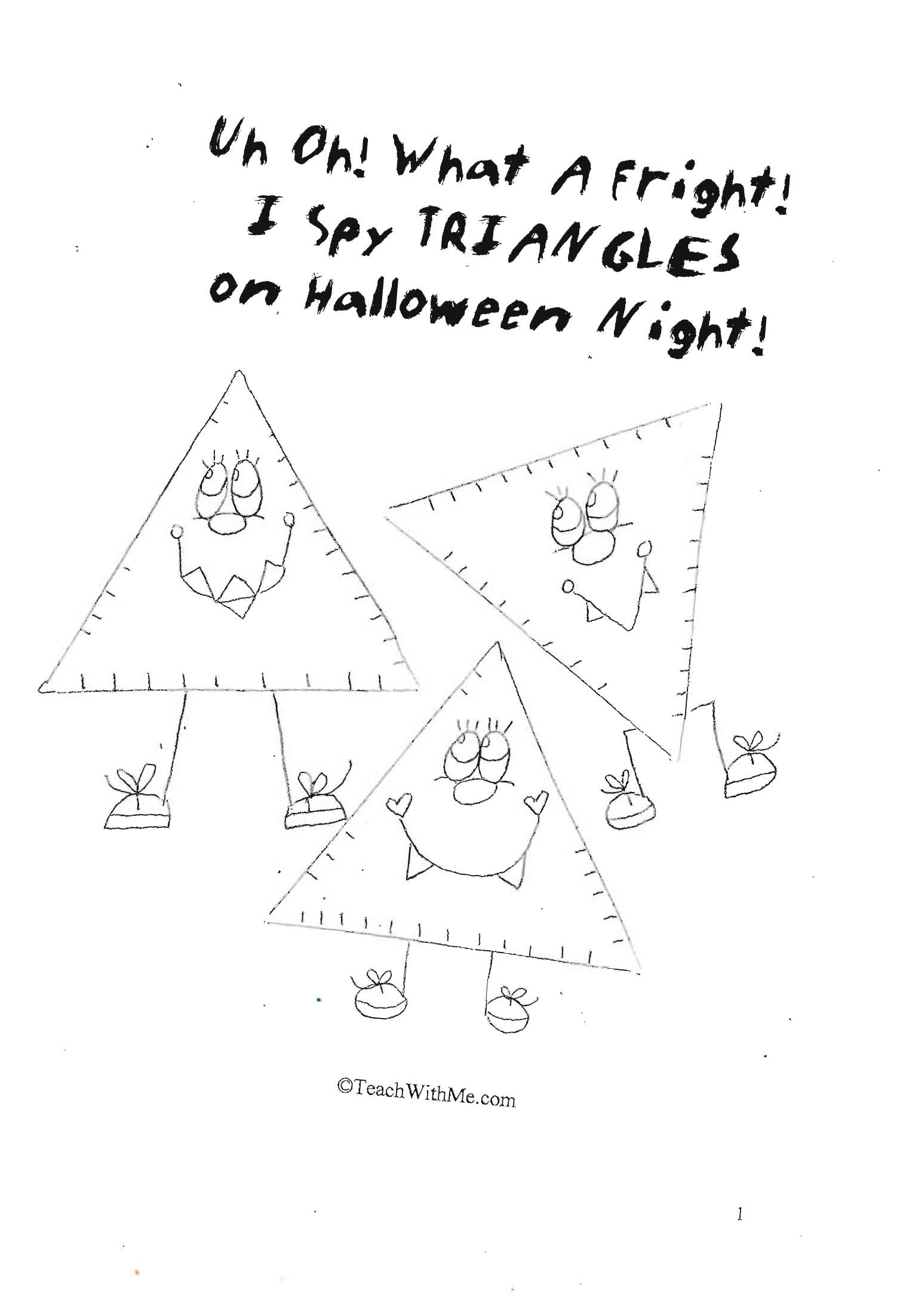 halloween activities, halloween lessons, shape lessons, shape activities, triangles, triangle activities, triangles lessons, daily 5 activities, daily 5 lessons, common core lessons for kindergarten common core lesson for first grade, rhyming booklet, easy reader booklets, rhyming activities, rhyming lessons, halloween booklet,