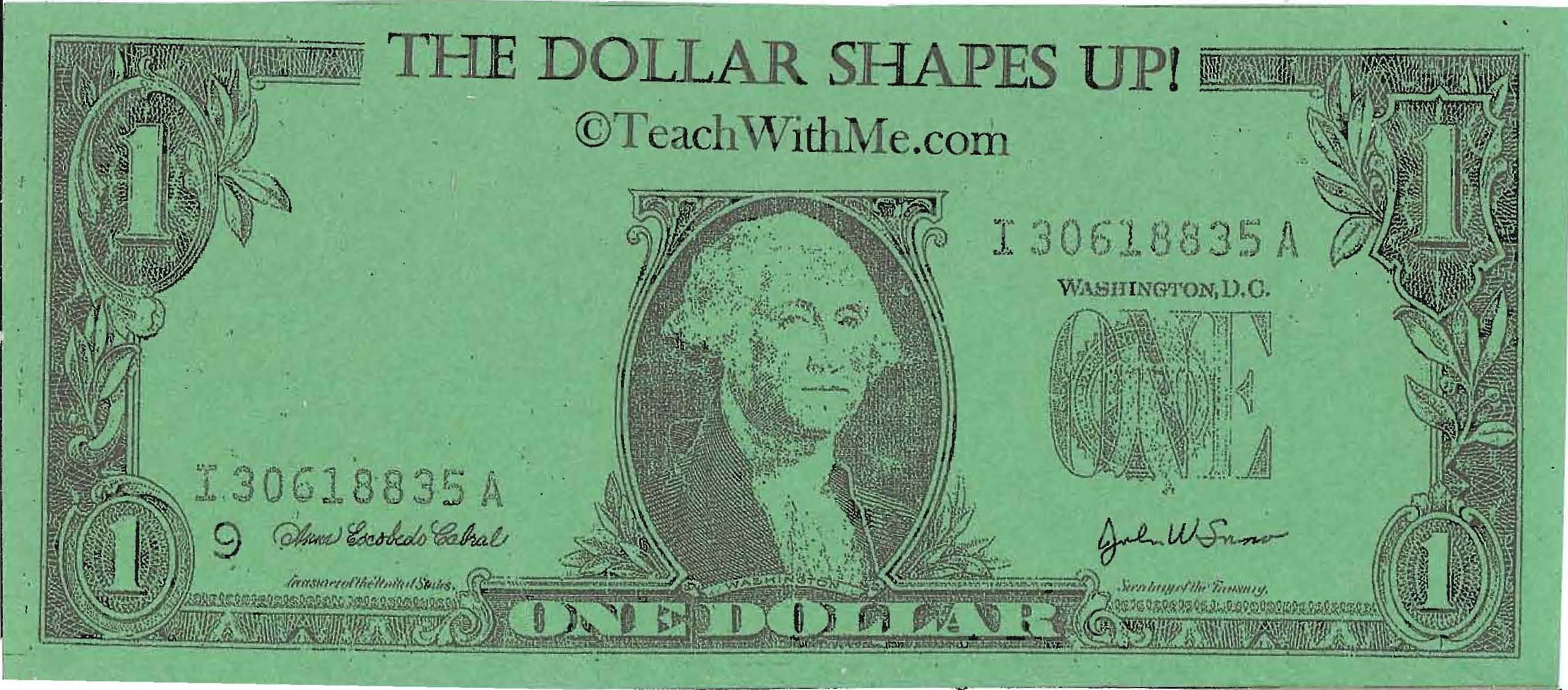 dollar booklet, money booklet, money activities, george washington ideas, george washington activities, presidents day activities, ideas for presidents day, presidents day centers, shape activities, center ideas for shapes,