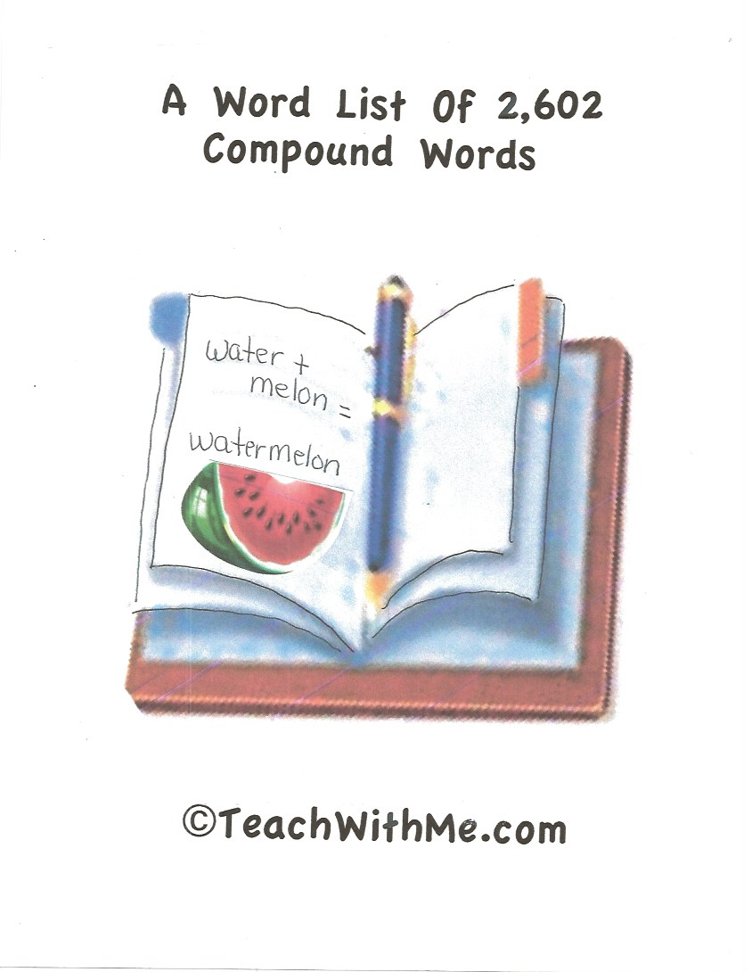 compound word list, sight word list, preschool sight word list, preprimer dolch word list, kindergarten sight word list, kindergarten dolch word list, first grade sight word list, first grade dolch word list, sight word poster, dolch word poster, 2,602 compound words,
