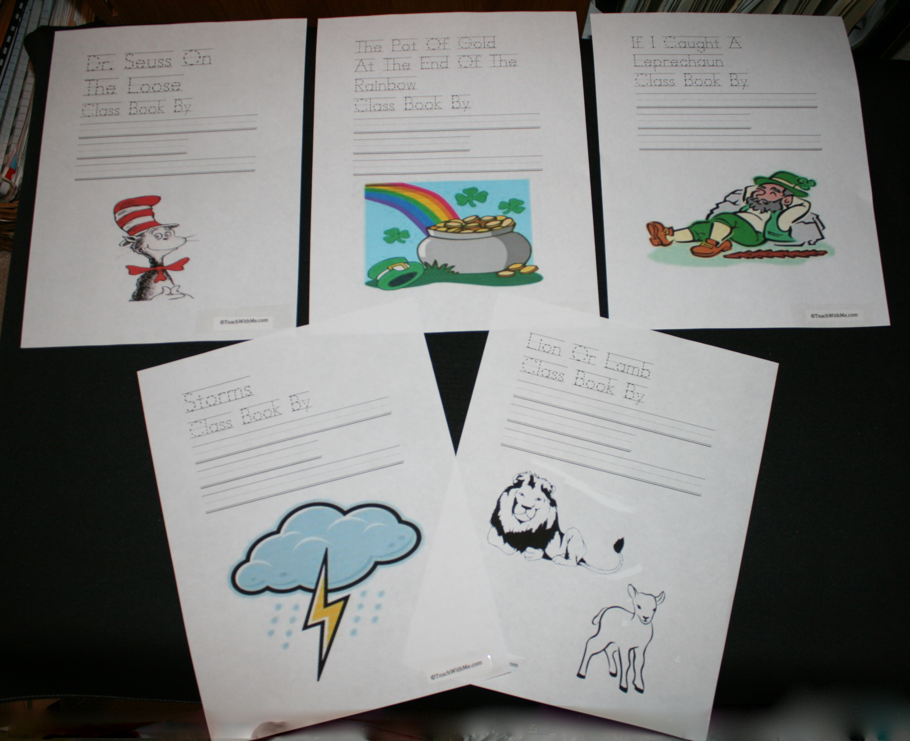 rainbow activities, rainbow booklet, rainbow song, color words, patterns, ordinal numbers, teaching ordinal numbers, ordinal number activities, writing prompts for march, march writing prompts, class books, making class books, class books for spring, writing class books, class books for march, lion and lamb activities, storm activities, Dr. Seuss activities, Dr. Seuss booklet, Dr. Seuss writing prompts, St. Patrick's Day activities, St. Patrick's Day writing prompts, St. patrick's Day booklet,