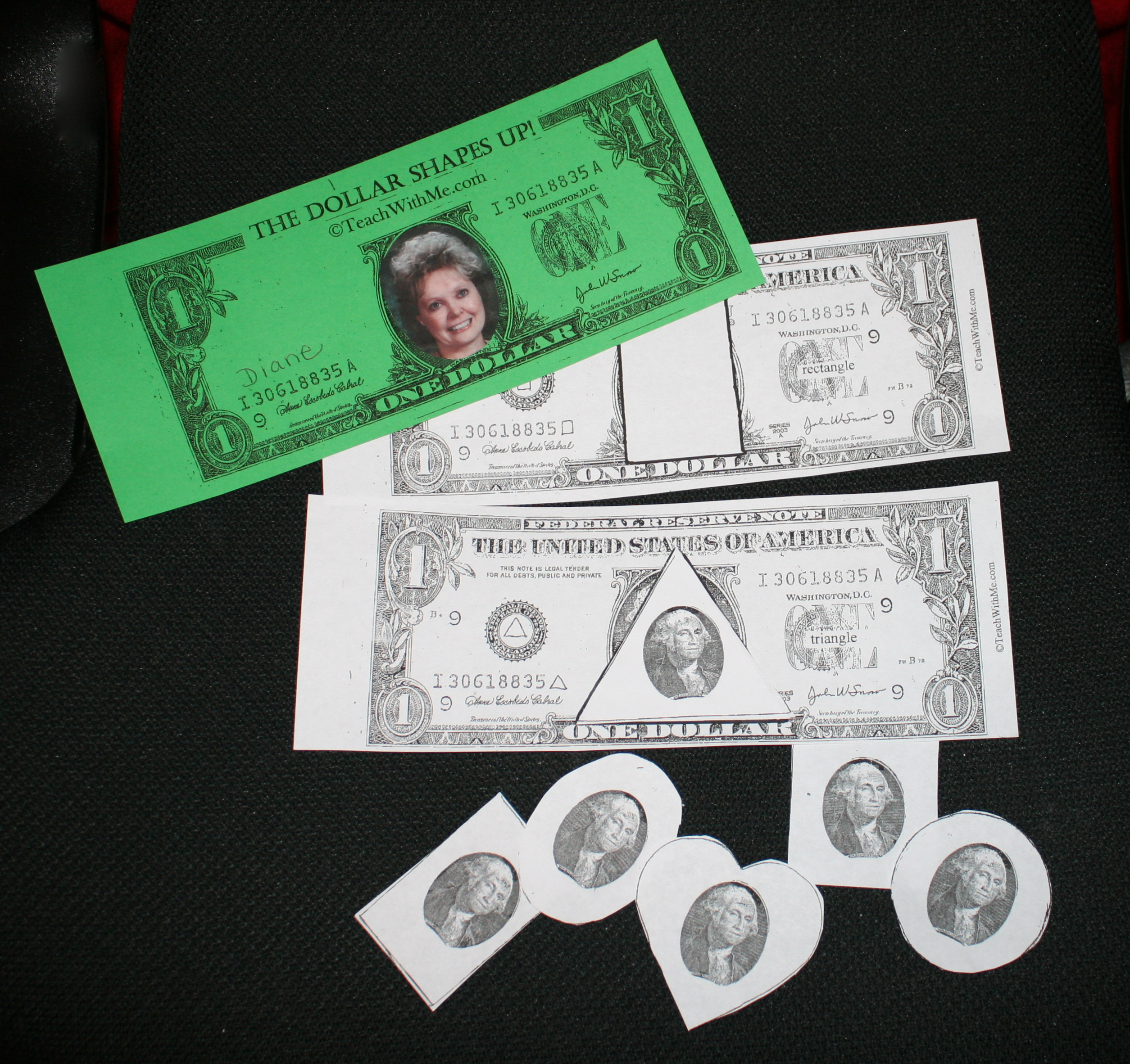 dollar booklet, money booklet, washington booklet, washington ideas, presidents day ideas, presidents day activities, shape ideas, shape lessons, shape activities, shape booklet, shape centers, presidents day lessons,