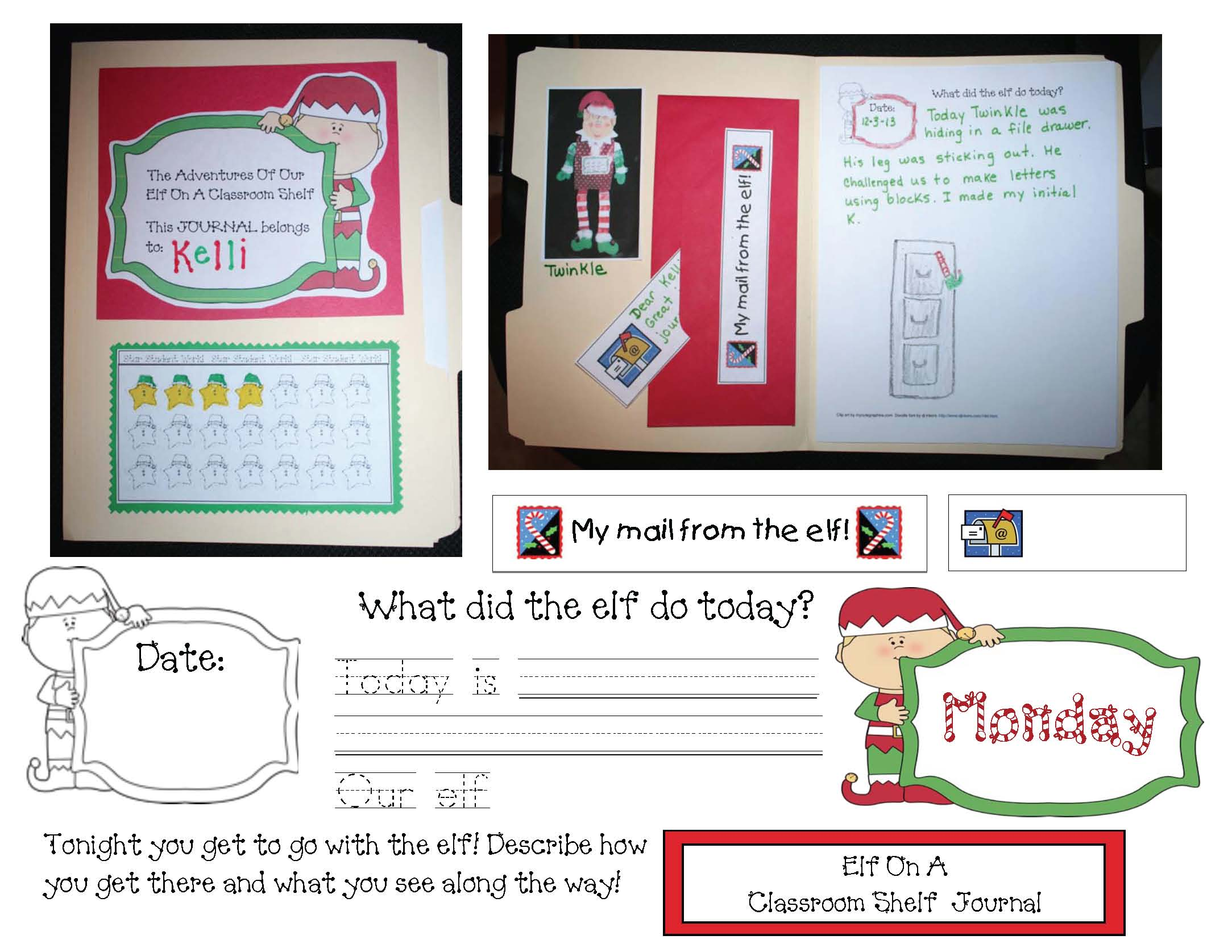 Christmas activities, elf activities, directional writing prompts, december bulletin boards, daily 5 activities for december, list of transitions, transition cards, elf on a shelf activities, elf alphabet cards, venn diagrams, elf & gingerbread venn diagrams, elf sentence cards, elf slider