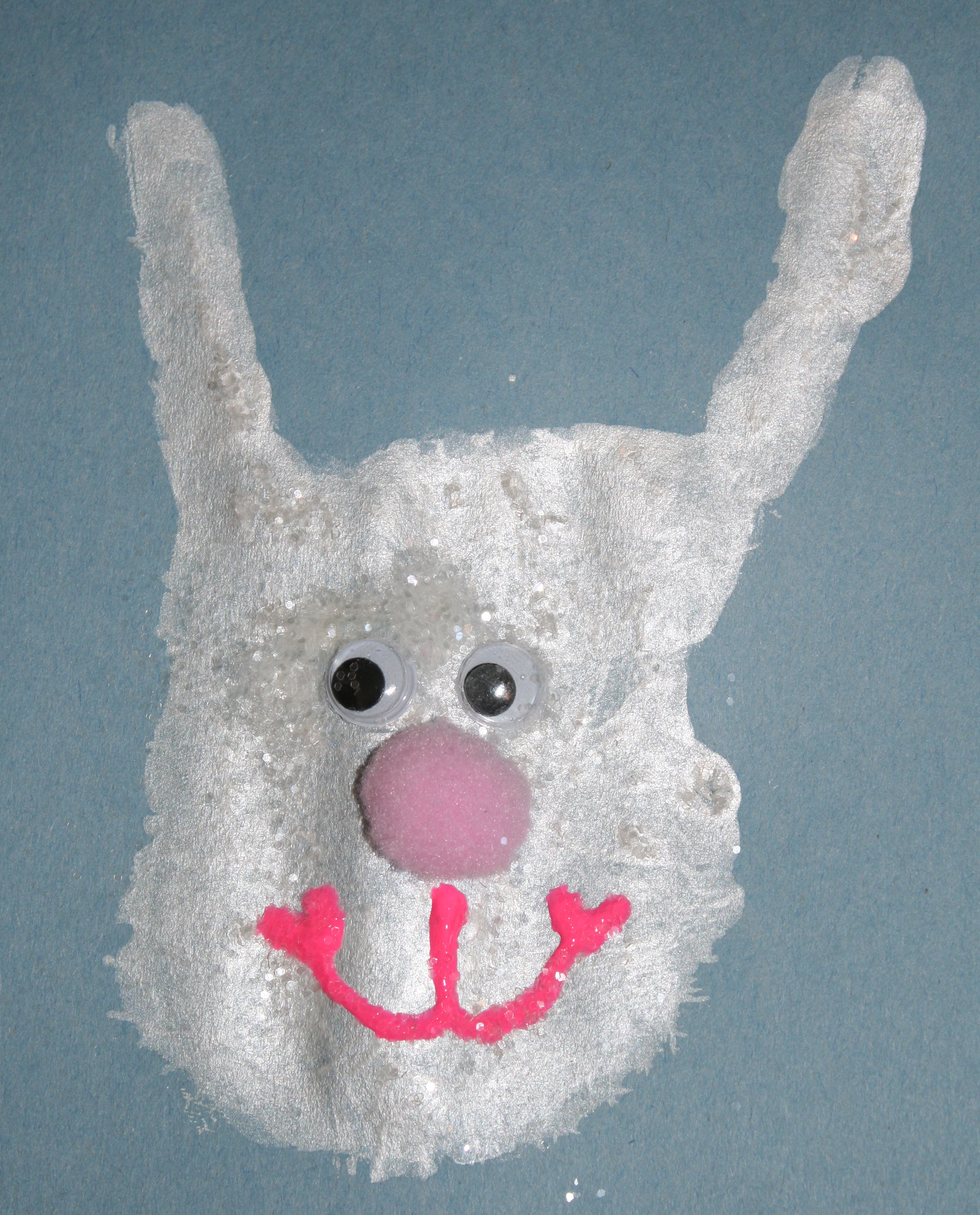 handprint_bunny, April art projects for kids, Easter art projects