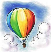 hot_air_balloon, summer writing prompts, june writing prompts, writing prompts
